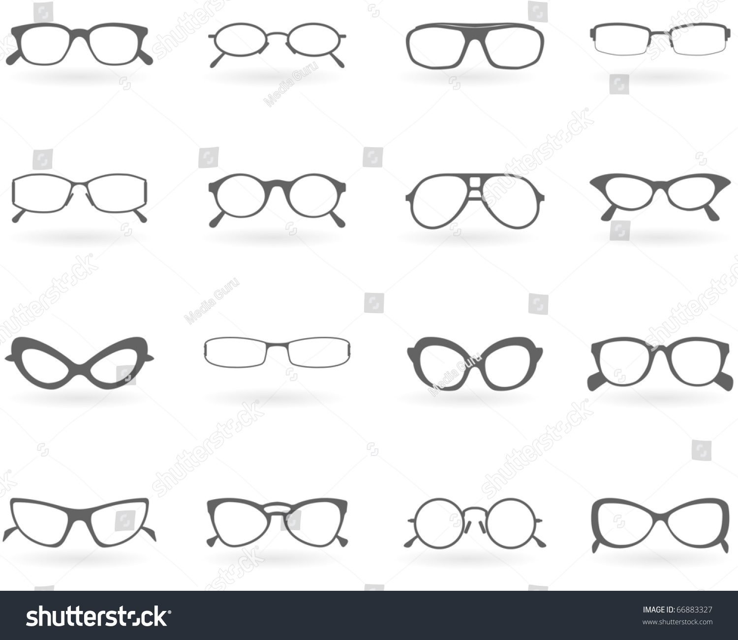 glasses styles  Glasses Different Styles Stock Vector 66883327 - Shutterstock