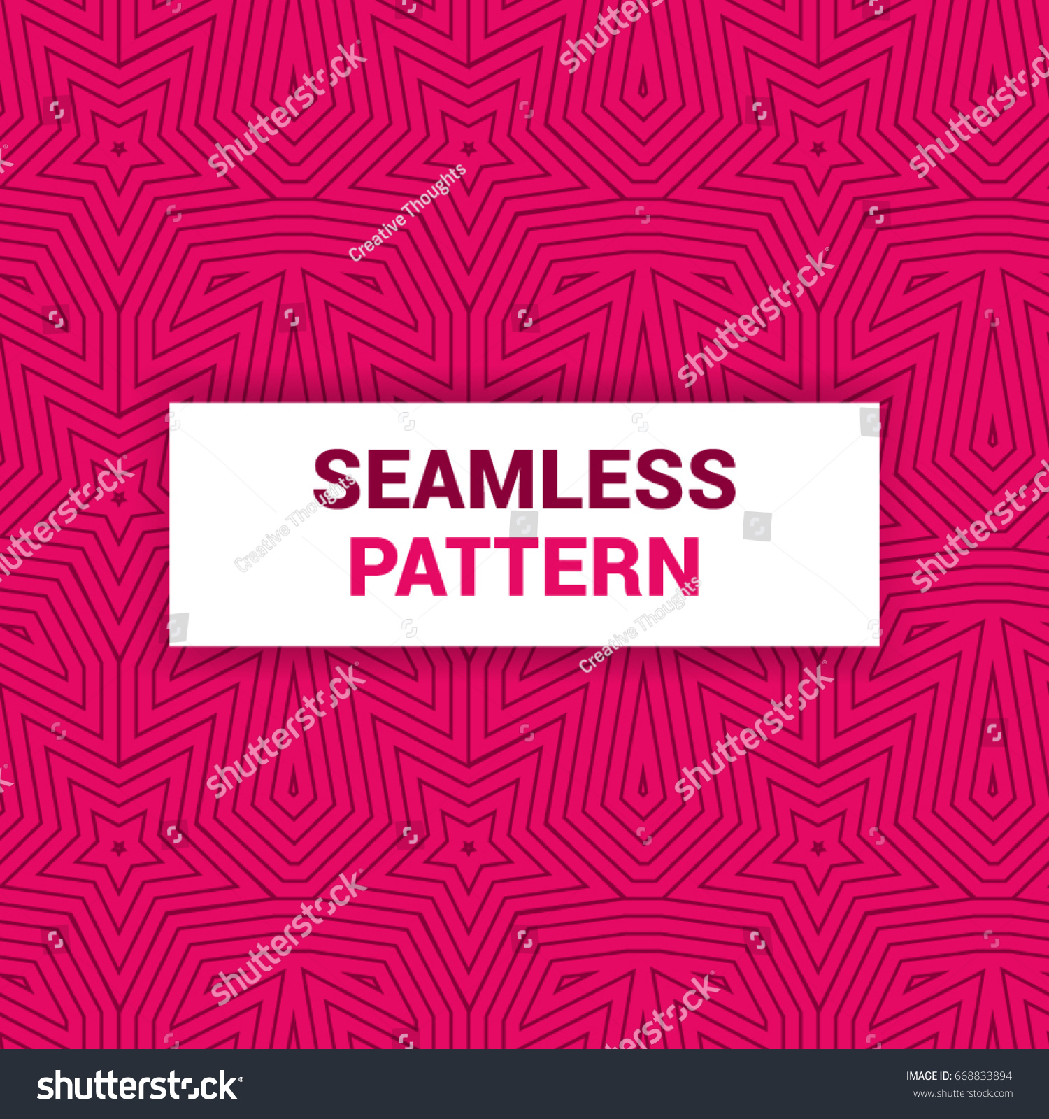 Seamless pattern design of arab geometric shapes with pink and red color background vector design print