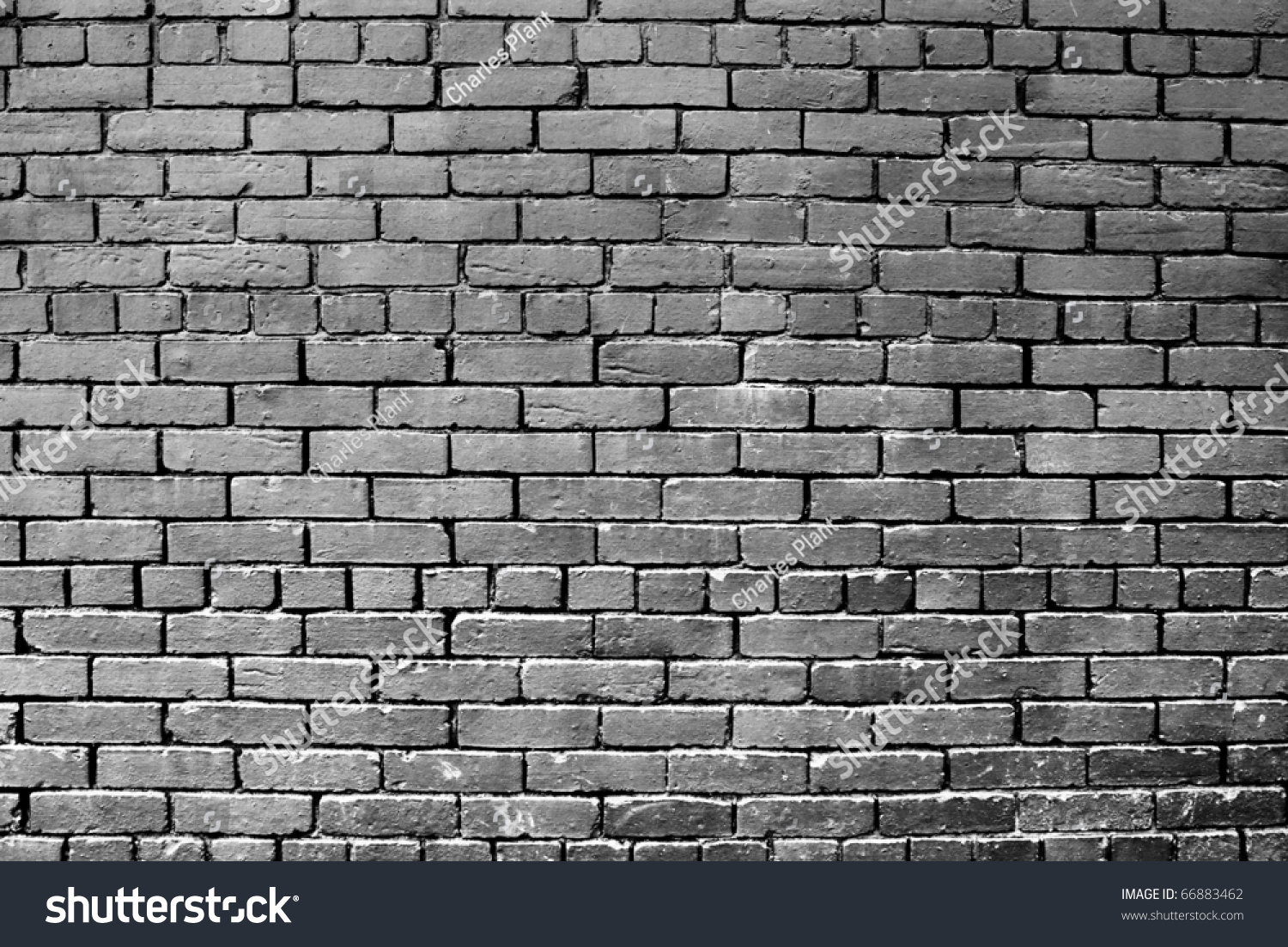 A Horizontal Grey Painted Exterior Brick Wall Part 76