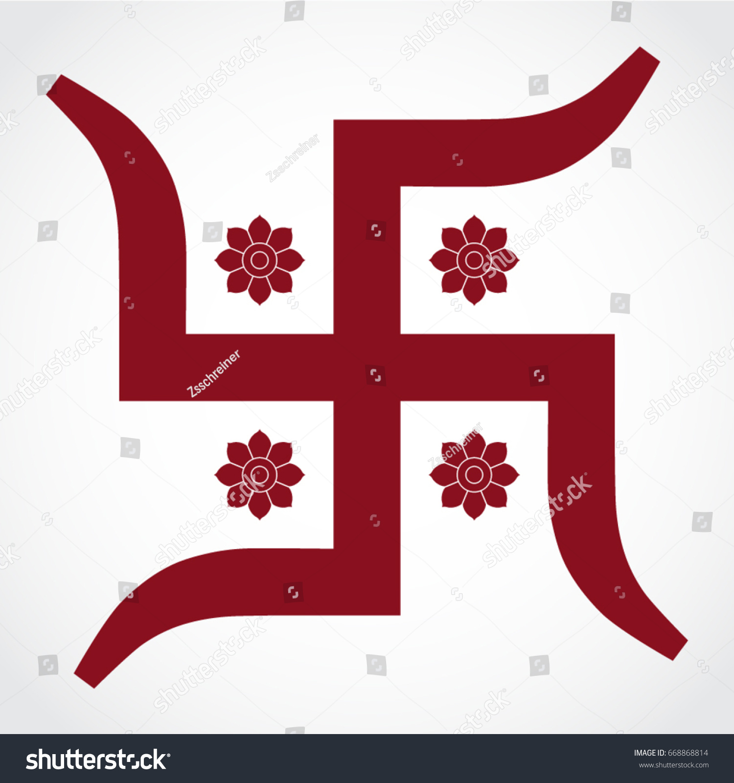 Hindu swastika religious symbol stock vector 668868814 shutterstock hindu swastika religious symbol buycottarizona Image collections