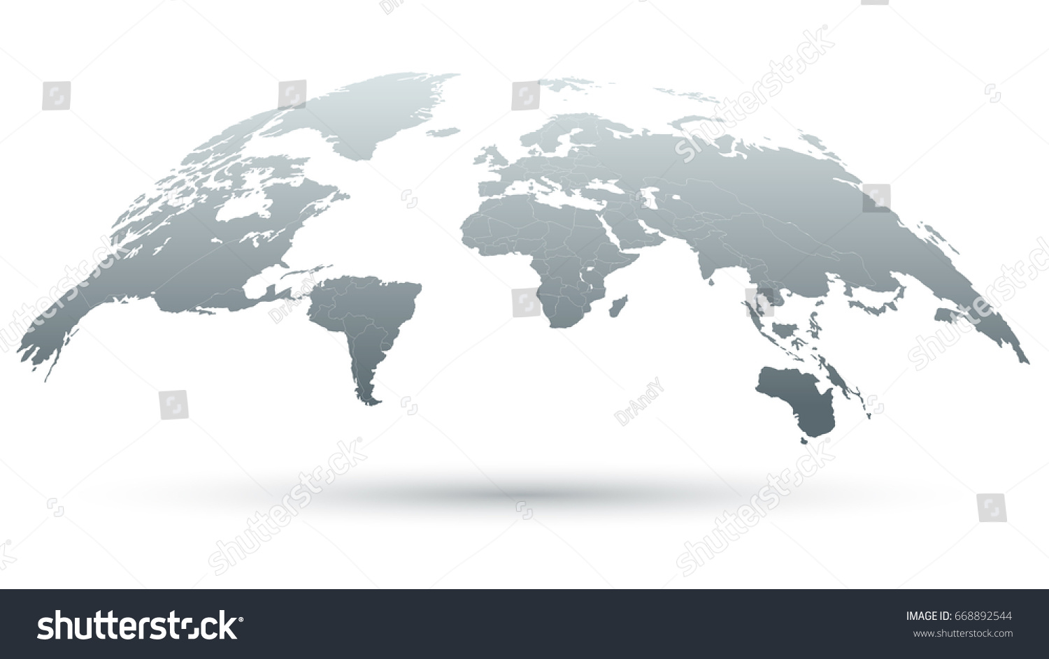 3d map world isolated on white stock vector 668892544 shutterstock