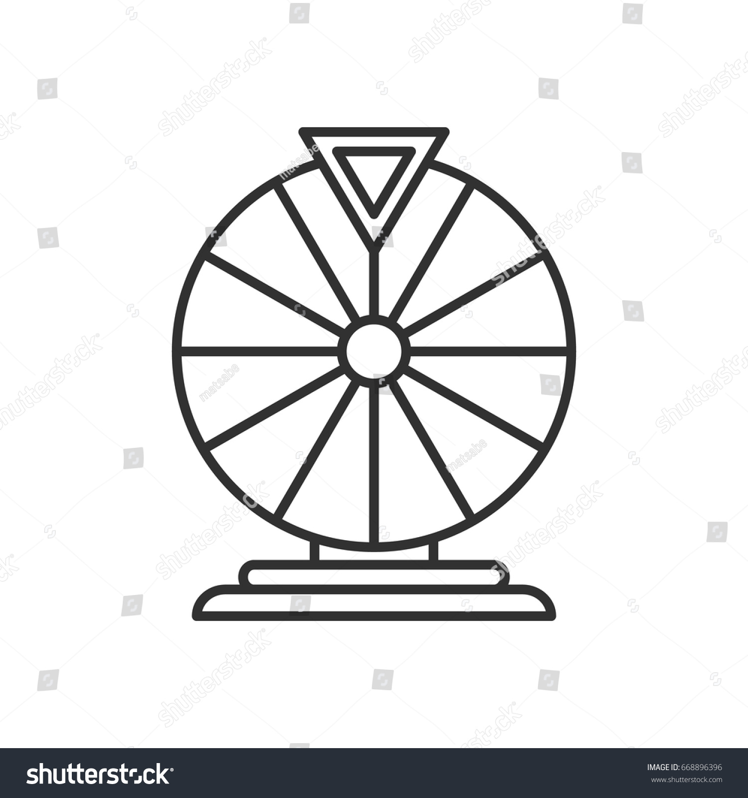 Wheel Fortune Stock Vector Royalty Free 668896396