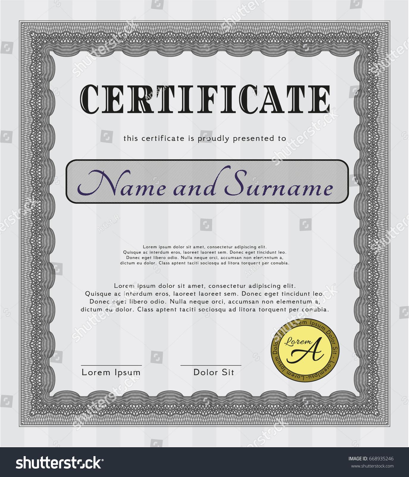 customizable certificate