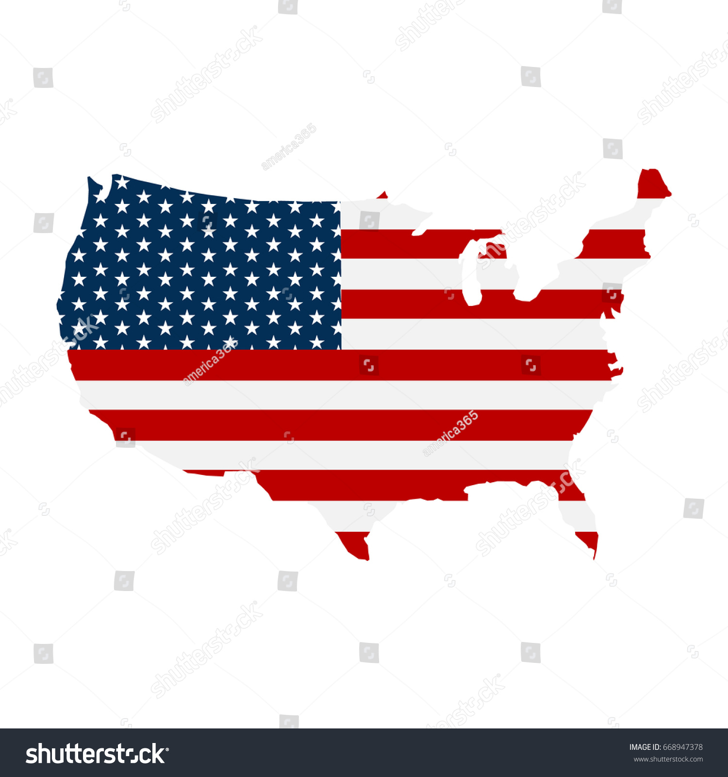 Usa Map Flag Stripes Stars Logo Stock Vector Shutterstock - Us map logo