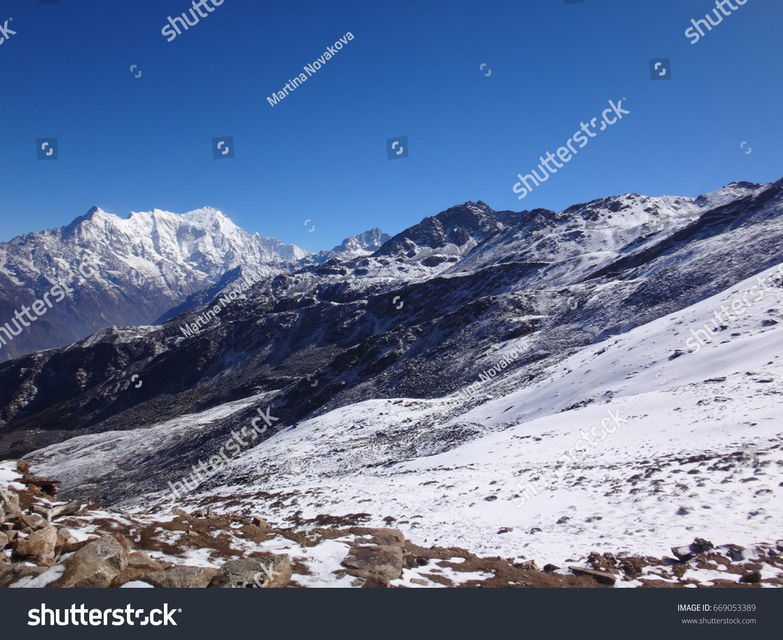 Nepal Himalayas Gosaikunda Lake Hiking Stock Photo (Edit Now