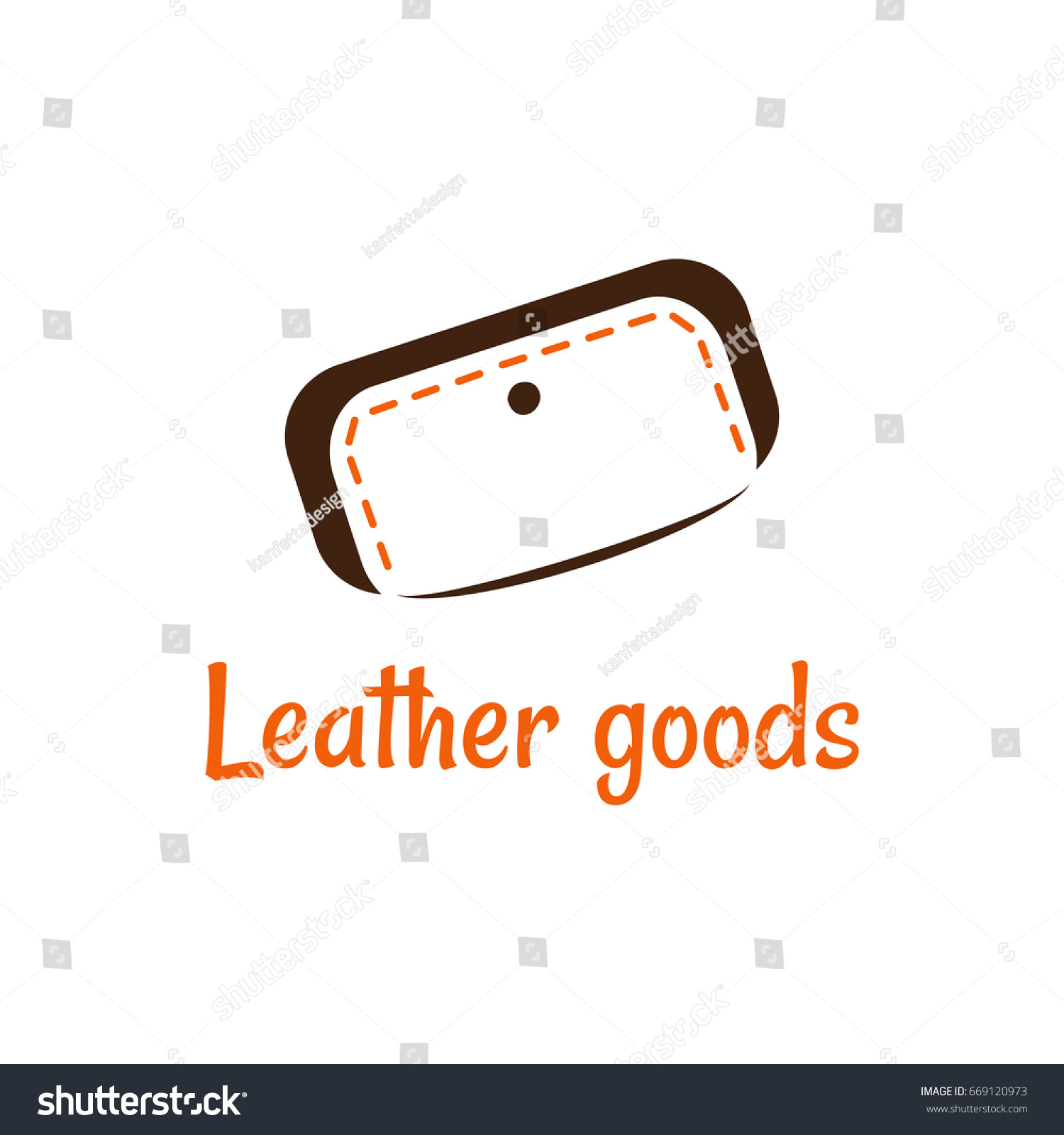 Vector Logo Template Store Leather Goods Stock Vector 669120973 ...