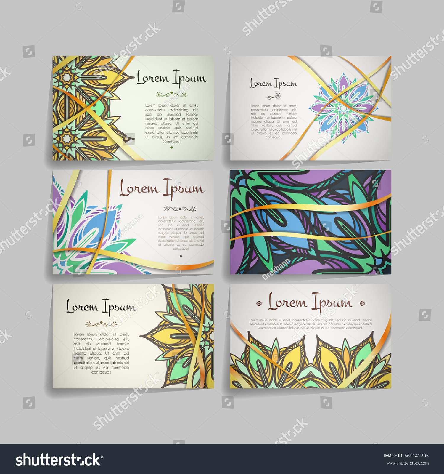 Set Vector Design Templates Business Card Stock Vector Royalty Free