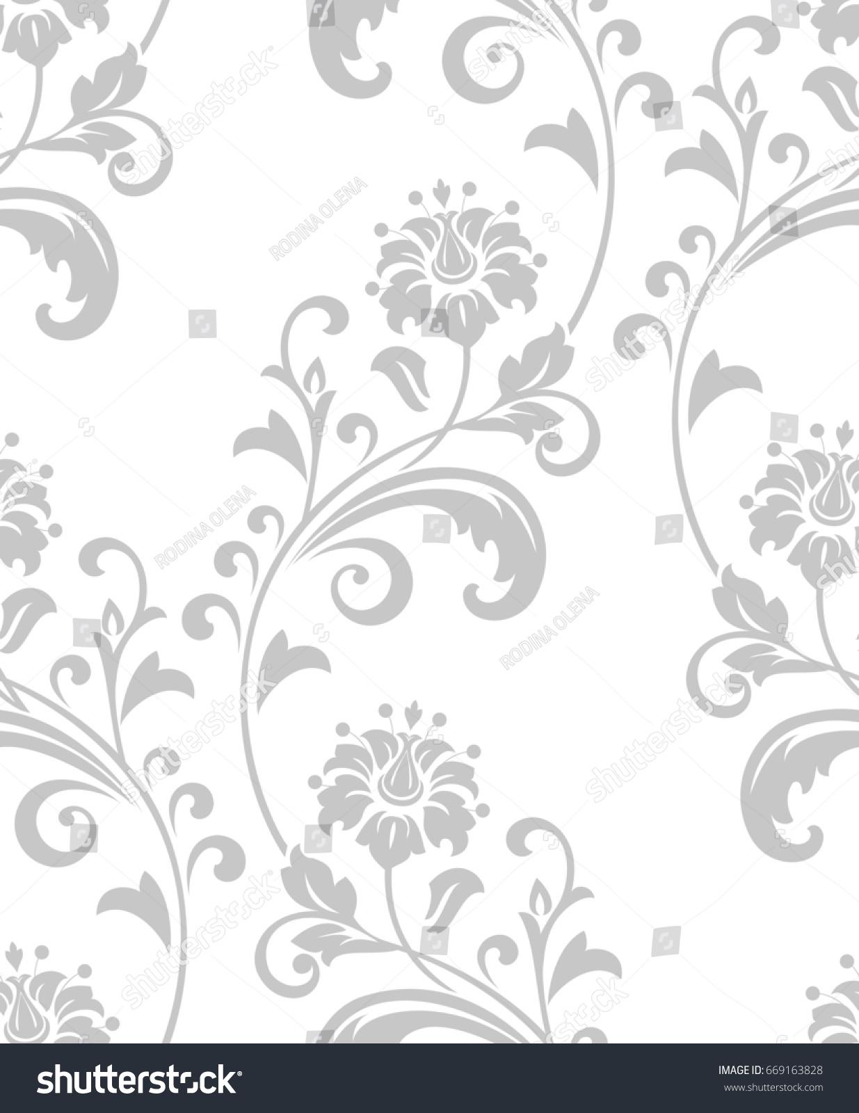 Damask Seamless Floral Pattern Royal Wallpaper Stock Illustration