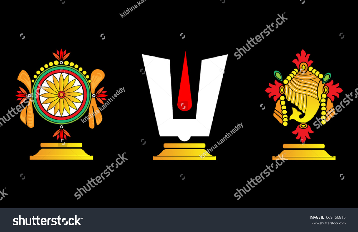 vector illustration hindu god lord venkateswara stock