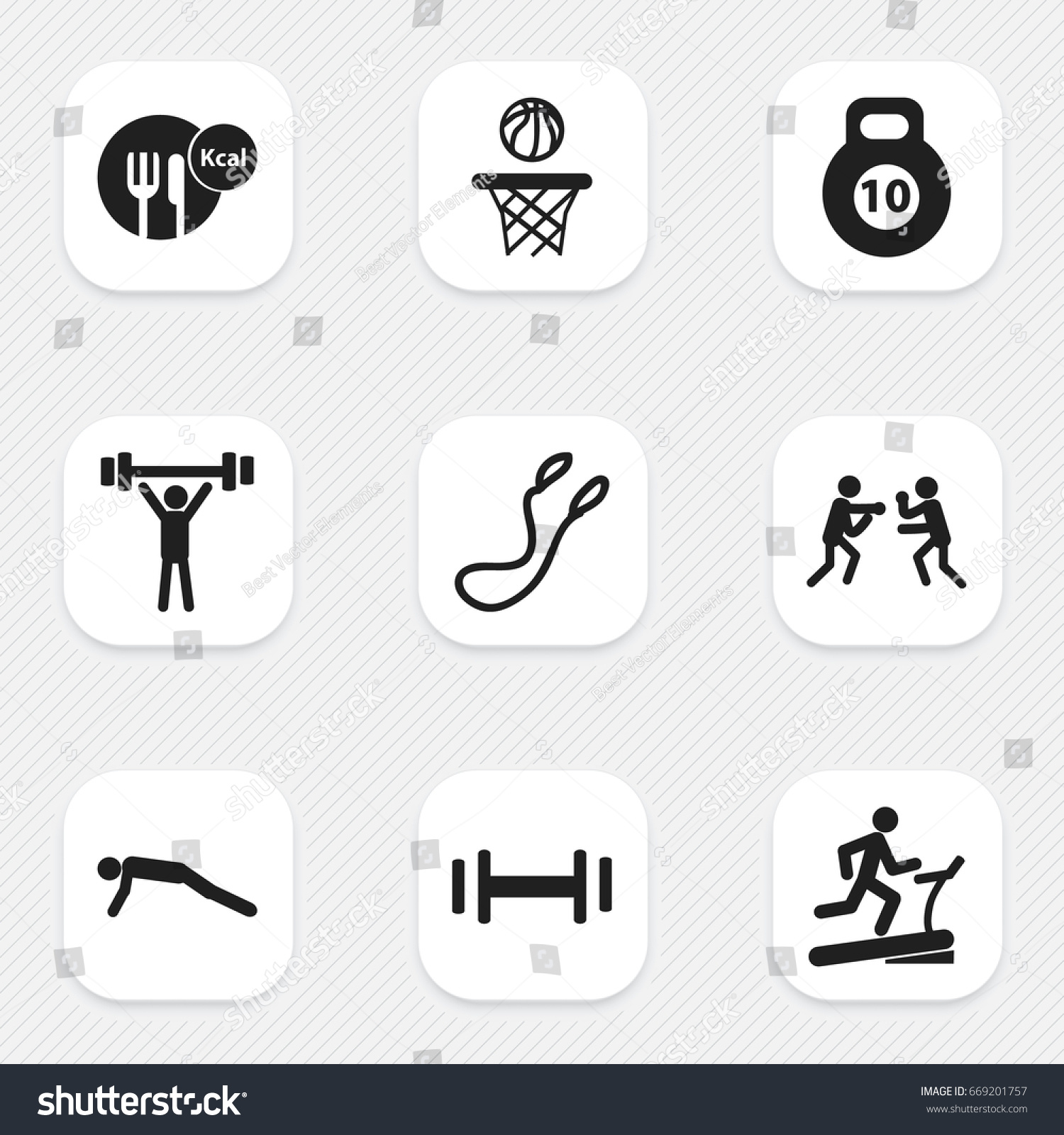 Set 9 editable sport icons includes stock vector 669201757 set of 9 editable sport icons includes symbols such as fight racetrack training biocorpaavc