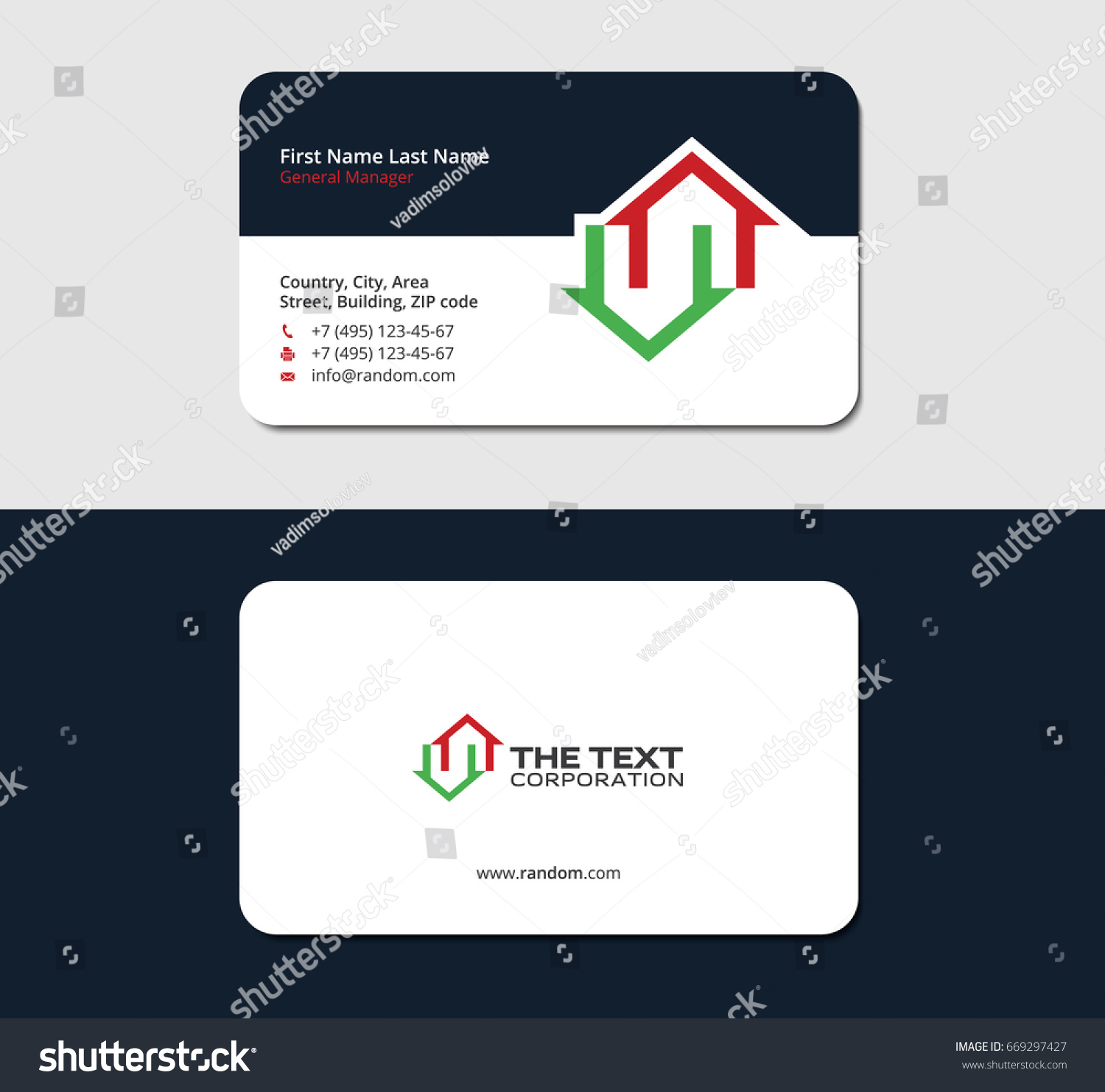 Business Card Template Real Estate