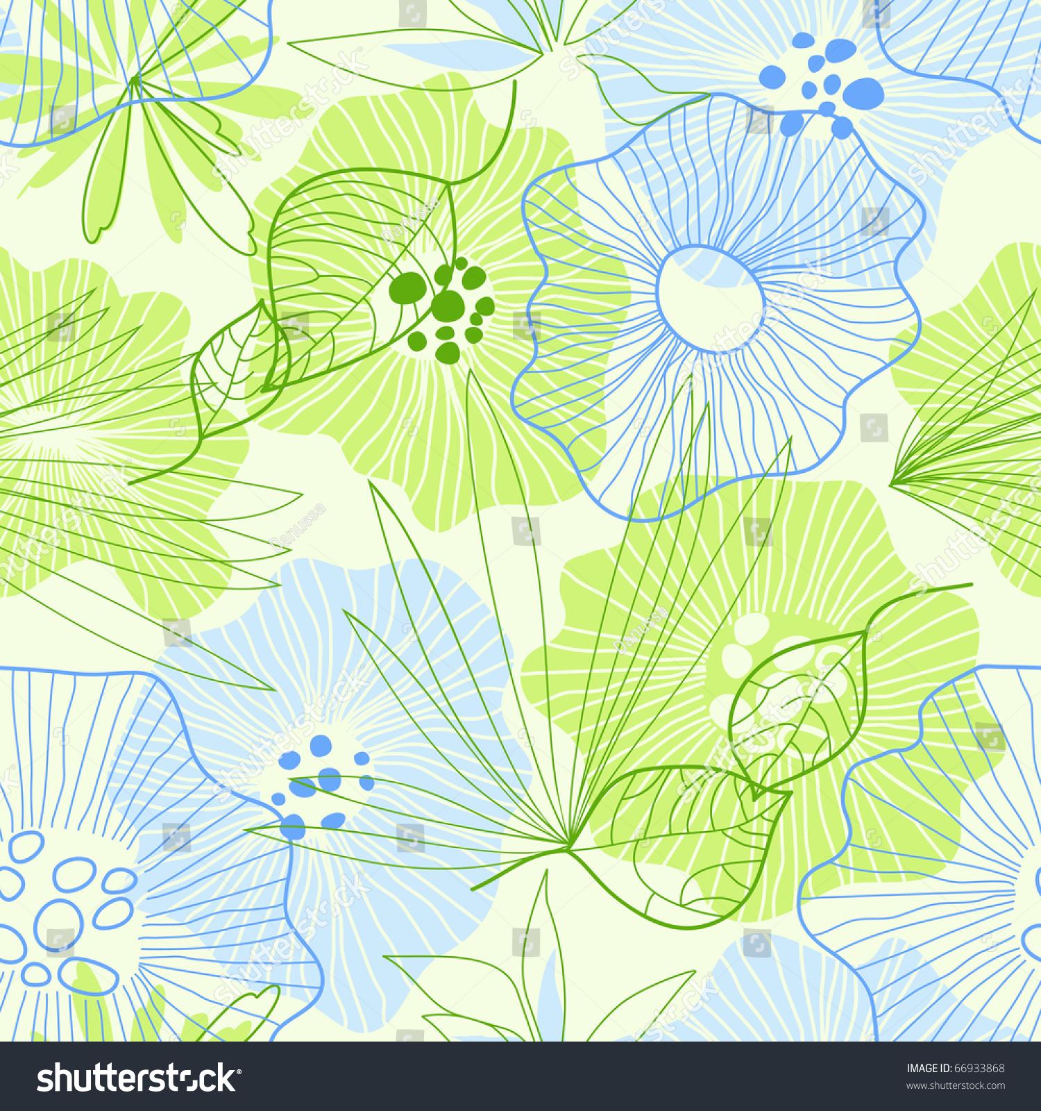 whimsical floral background stock vector illustration