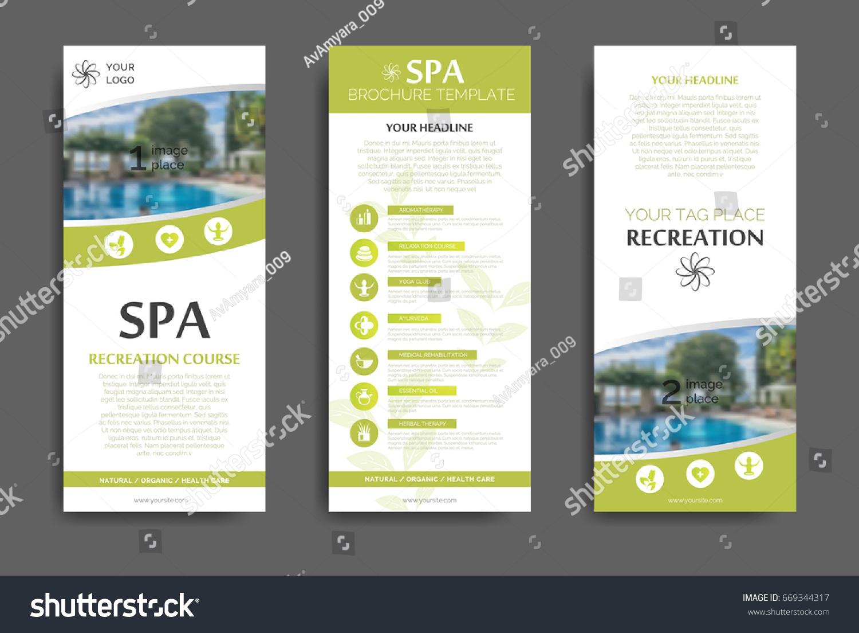 Minimalistic Spa Healthcare Brochure Design Creative Stock ...
