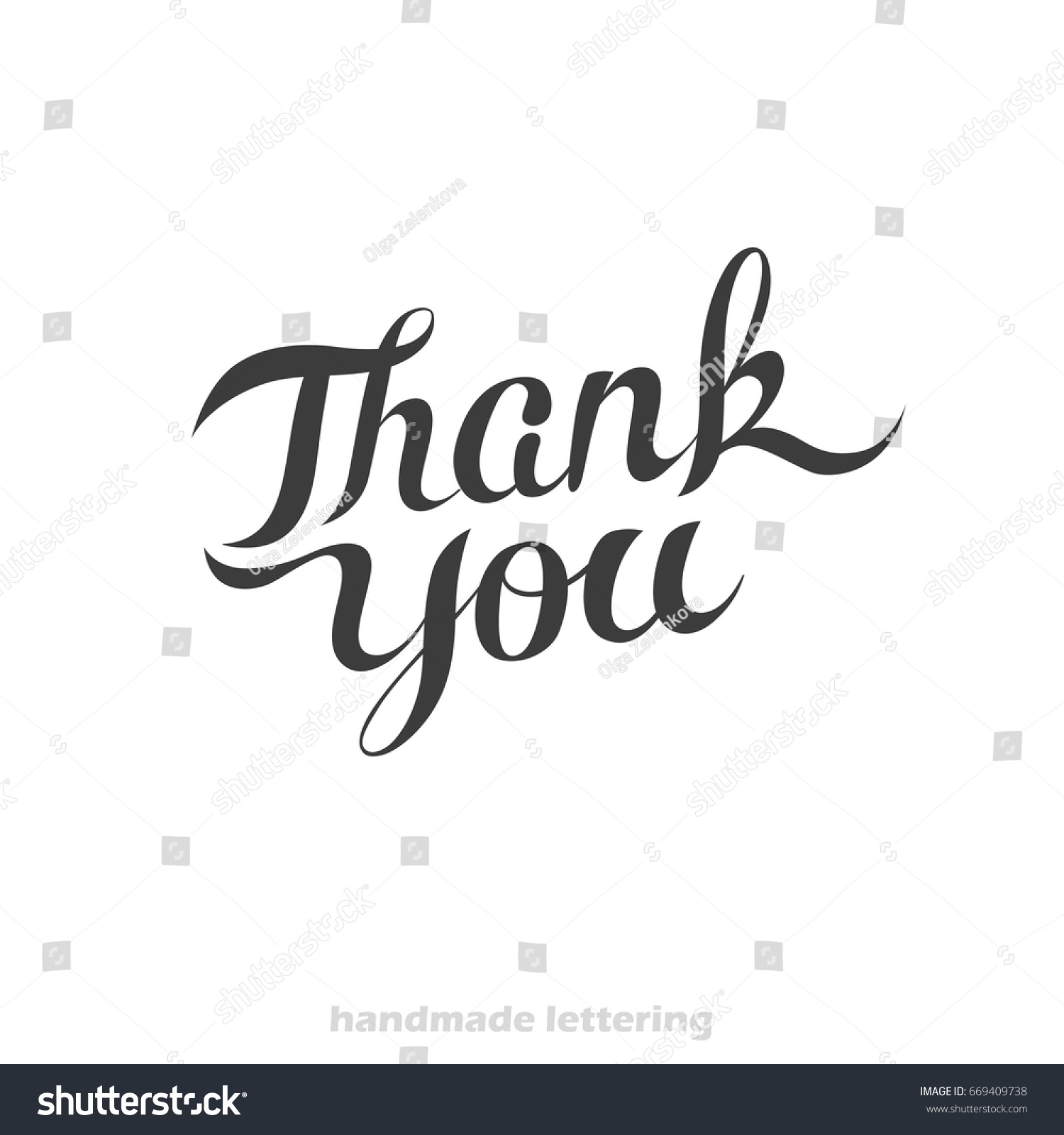 Thank you hand lettering card greeting stock vector 669409738 thank you hand lettering card greeting stock vector 669409738 shutterstock m4hsunfo
