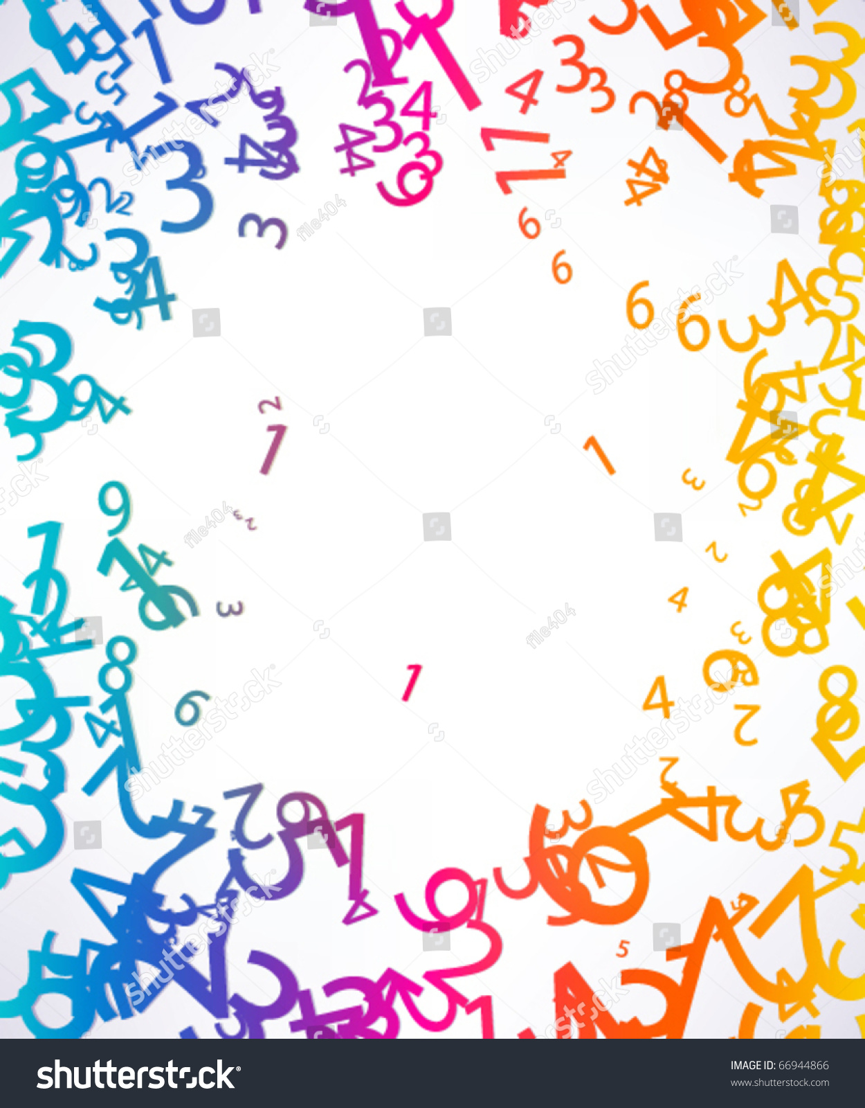 Abstract Colorful Background Numbers Stock Vector 66944866 ...