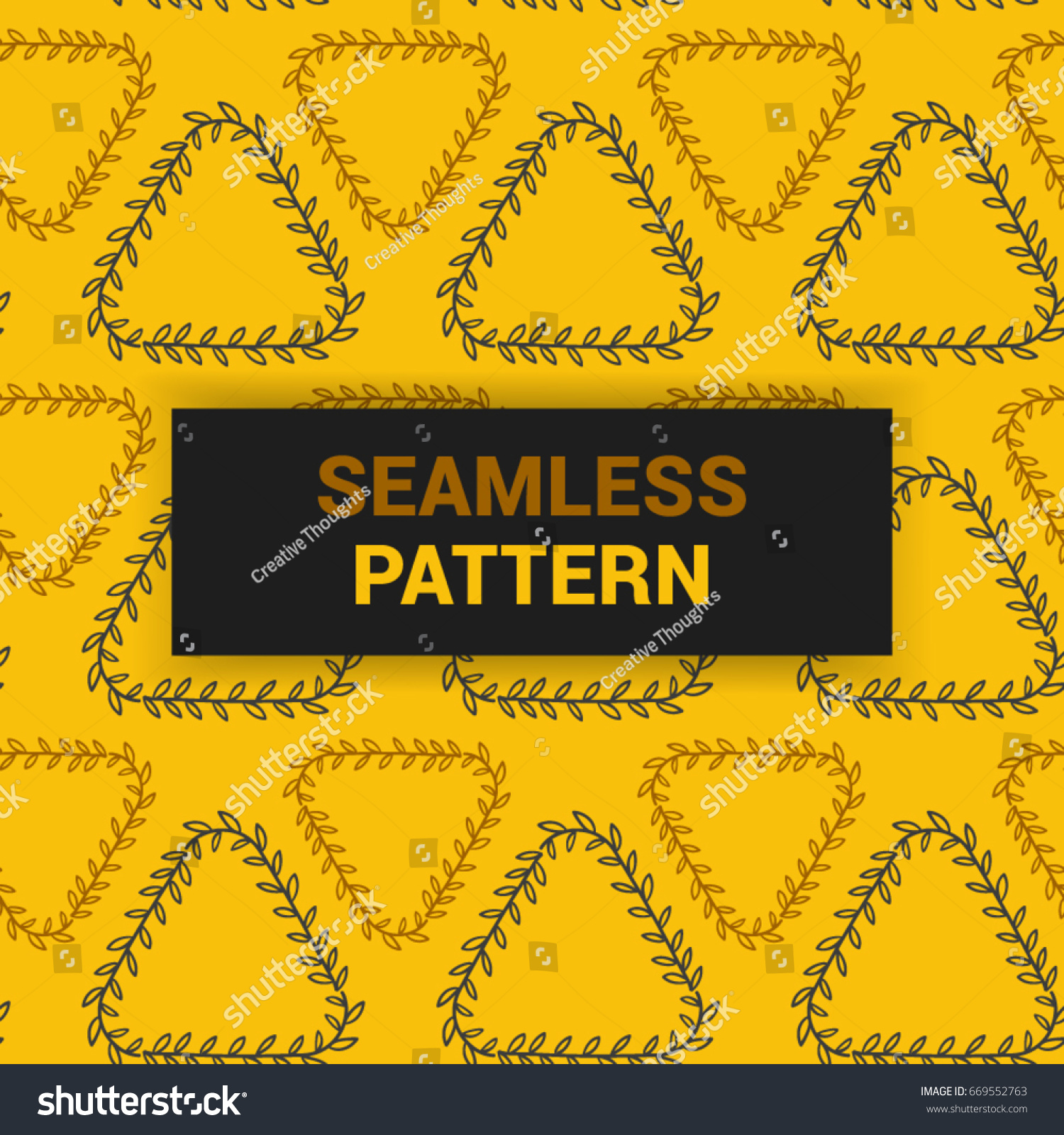 seamless pattern design yellow abstract arabic stock vector