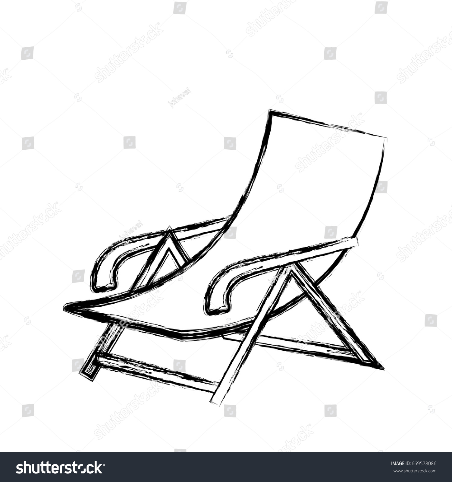 Beach Chair Icon Stock Vector 669578086