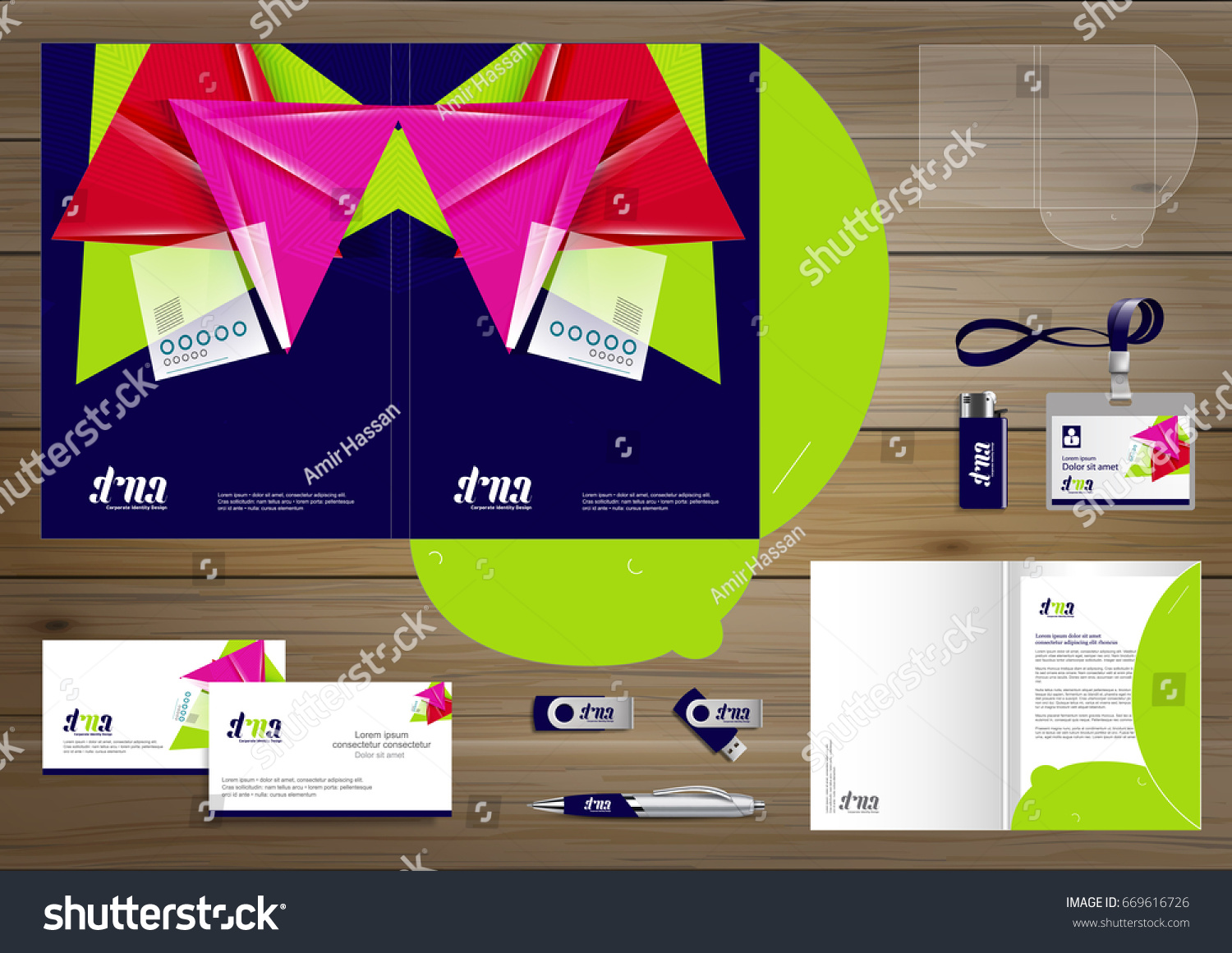 Vector Abstract Folder Stationery Presentation Corporate Stock