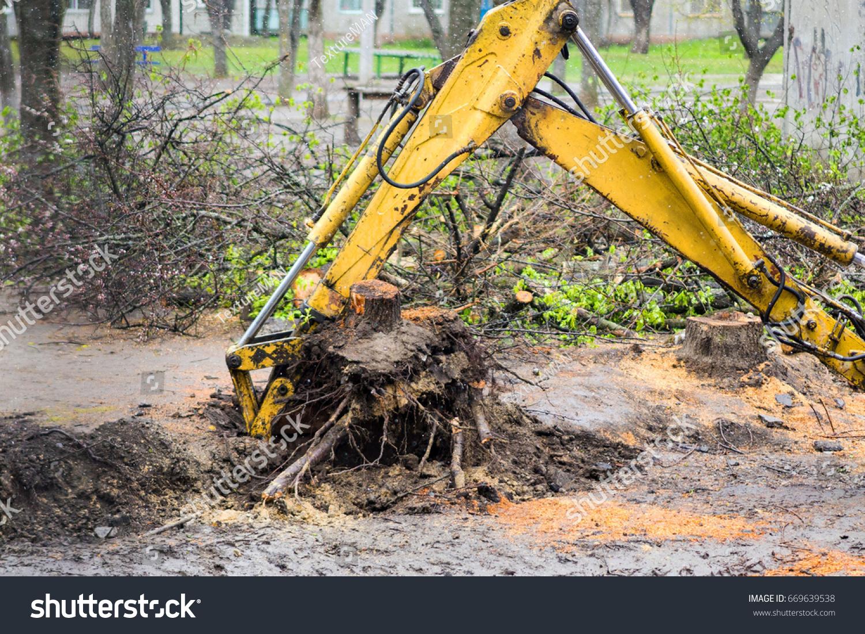 Uprooting stumps 29