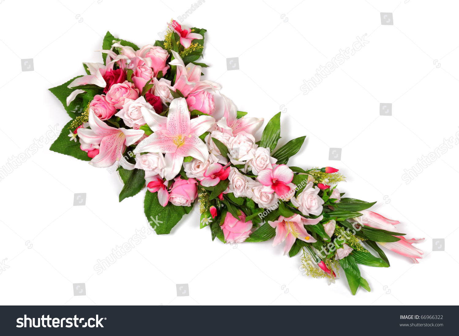 Wedding flower bouquet composition roses lilies stock photo edit wedding flower bouquet composition with roses lilies and orchids isolated on white background izmirmasajfo