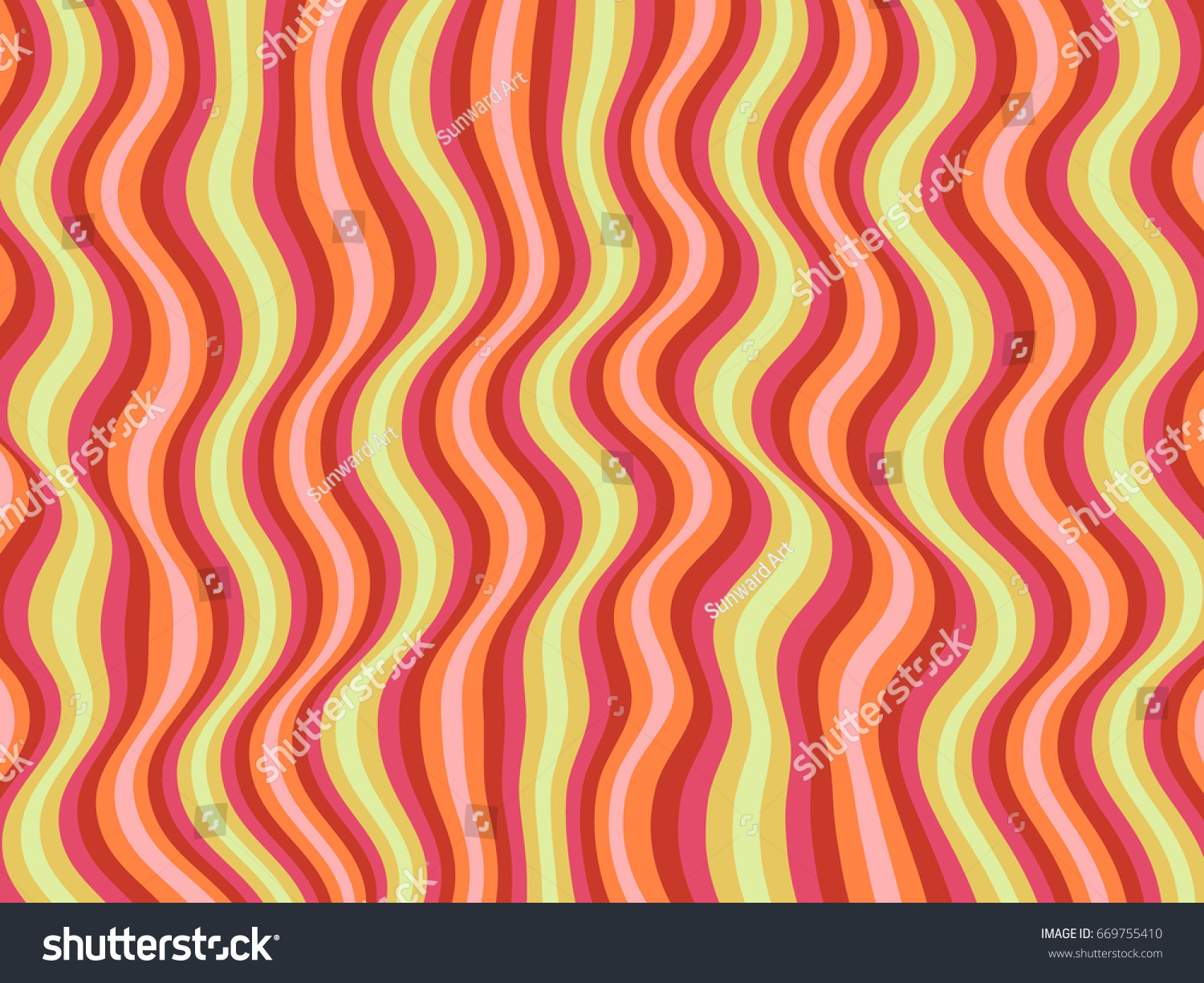Design banner minimalist - Wavy Lines Vector Curves Ripple Pattern Red And Green Background Minimalist Design