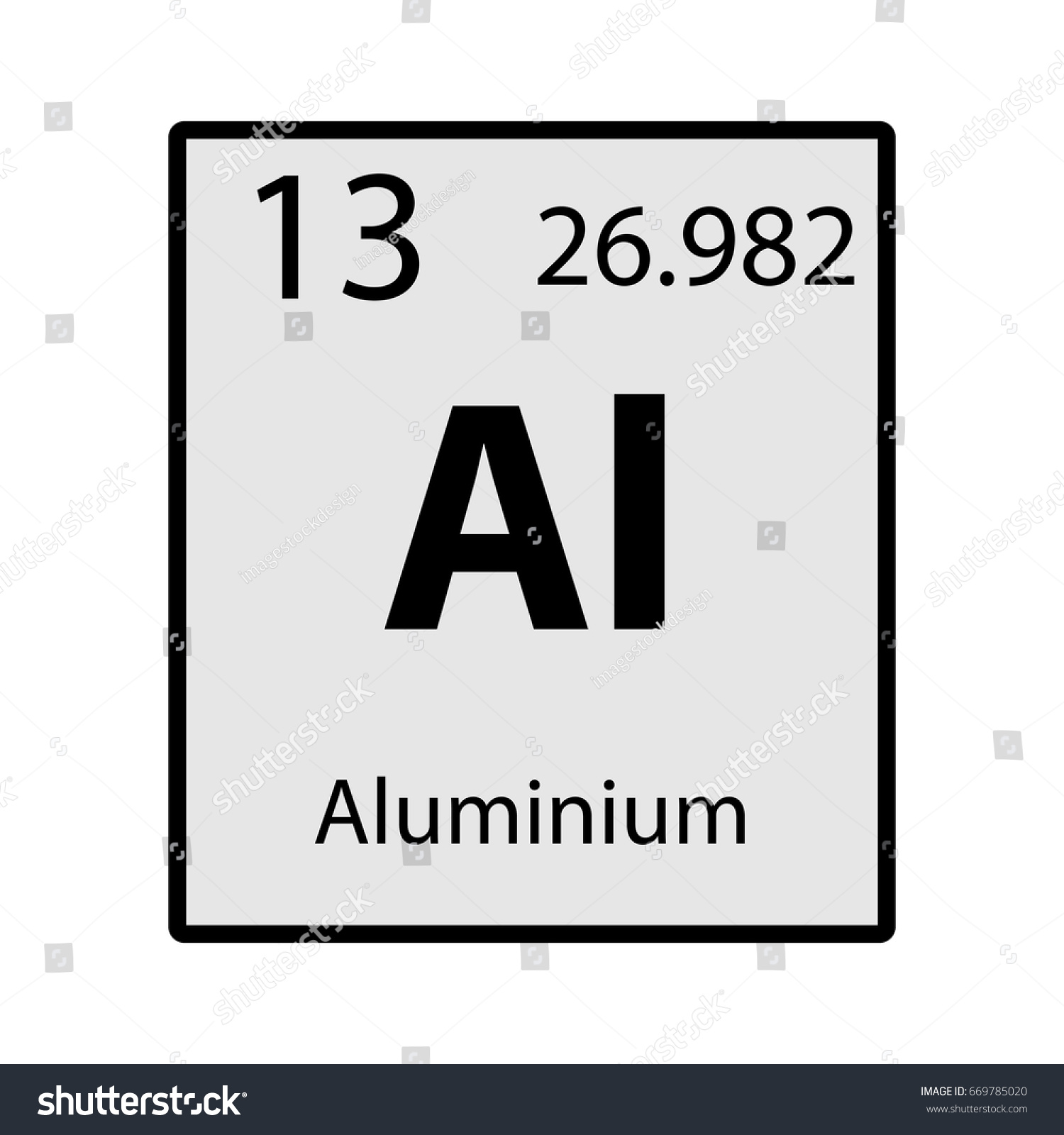 Aluminium periodic table element gray icon stock vector 669785020 aluminium periodic table element gray icon on white background vector gamestrikefo Image collections
