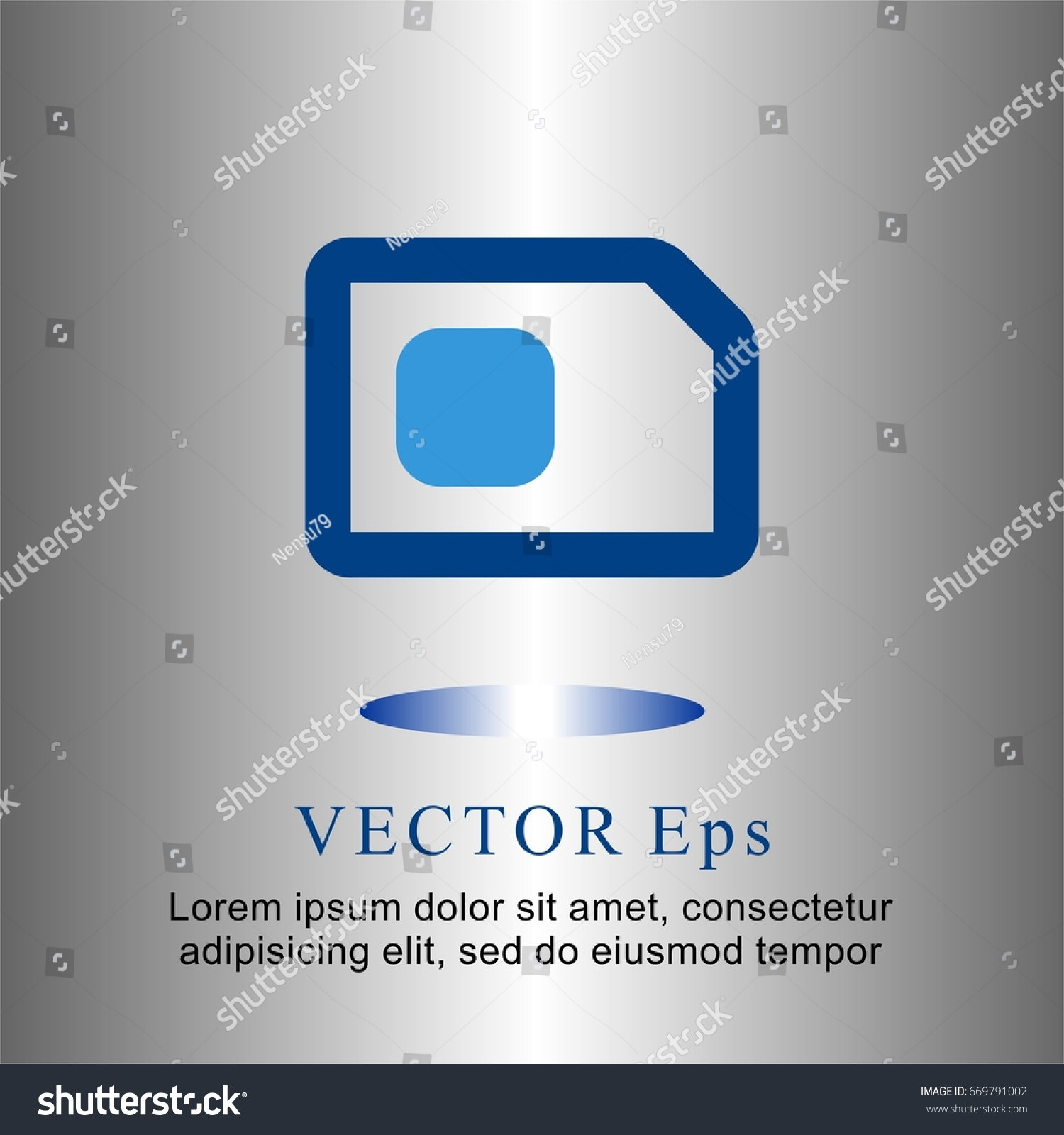 Icons Flat Simcard Web Mobile Business Stock Vector 669791002 ...