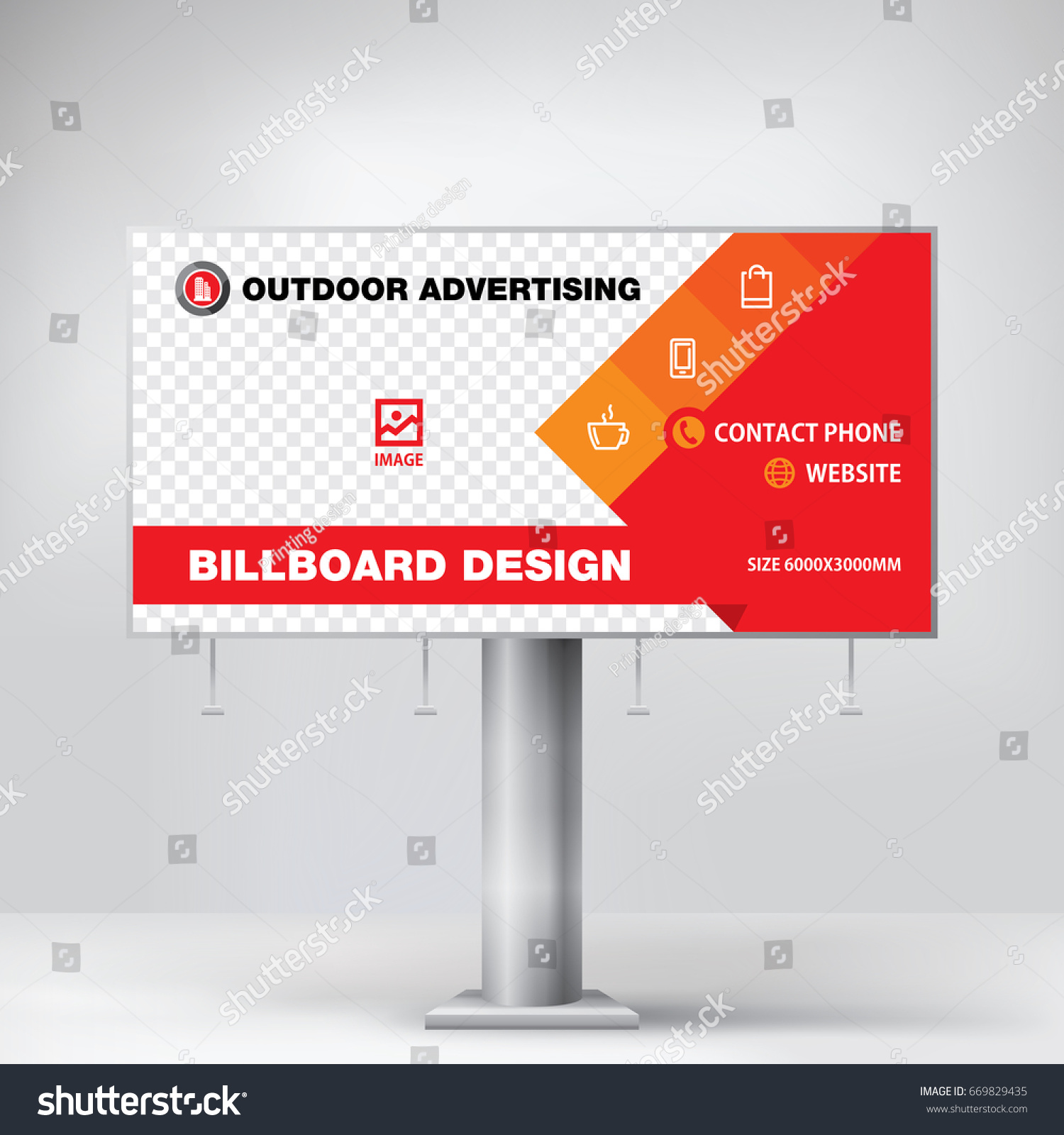 Billboard Design Advertising Stand Layout Stock-Vektorgrafik ...