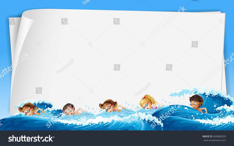 swimming template