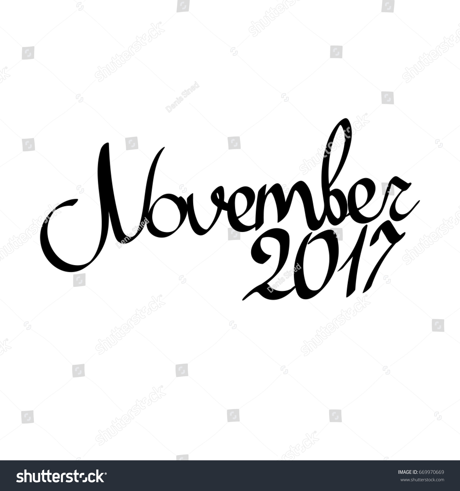 November 2017 isolated calligraphy lettering word stock for Craft fairs near me november 2017