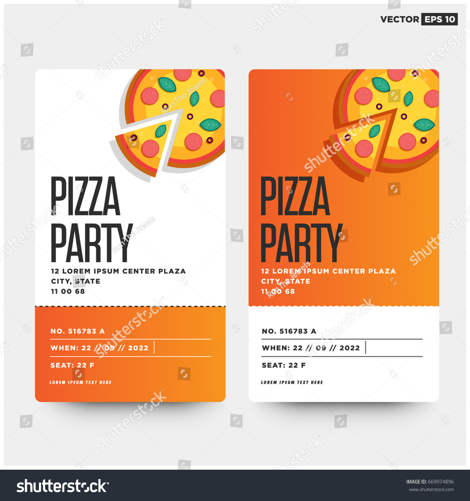 pizza party invitations template