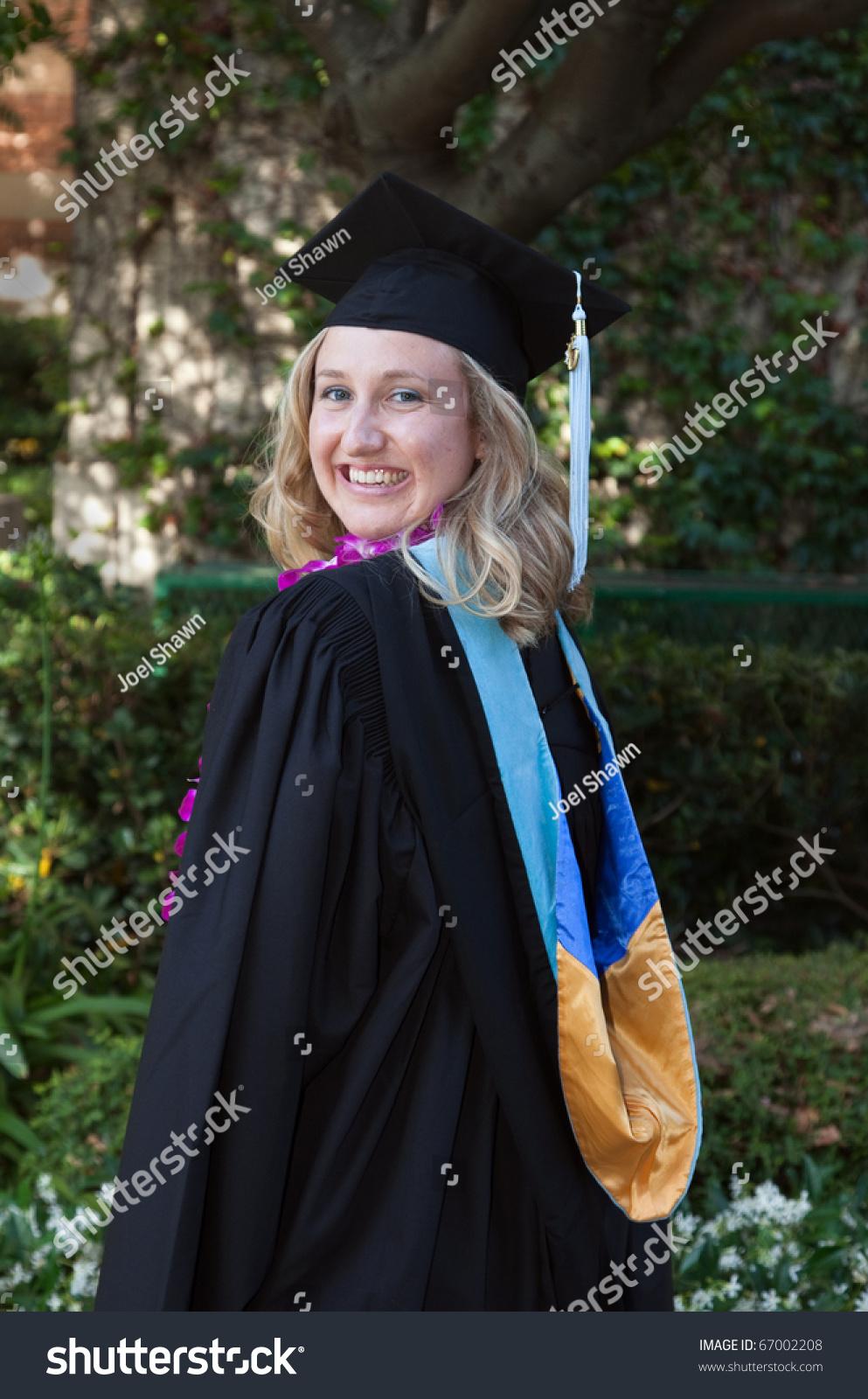 Beautiful Young Women Smiling College Graduation Stock Photo (Edit ...
