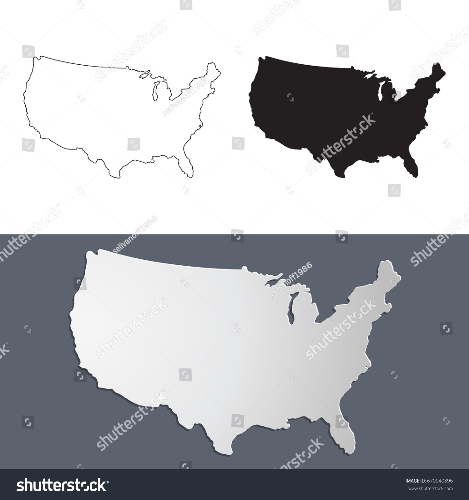 Usa Map Black Ink Usa Flag Usa Outline Black New York Black - Us map black and white