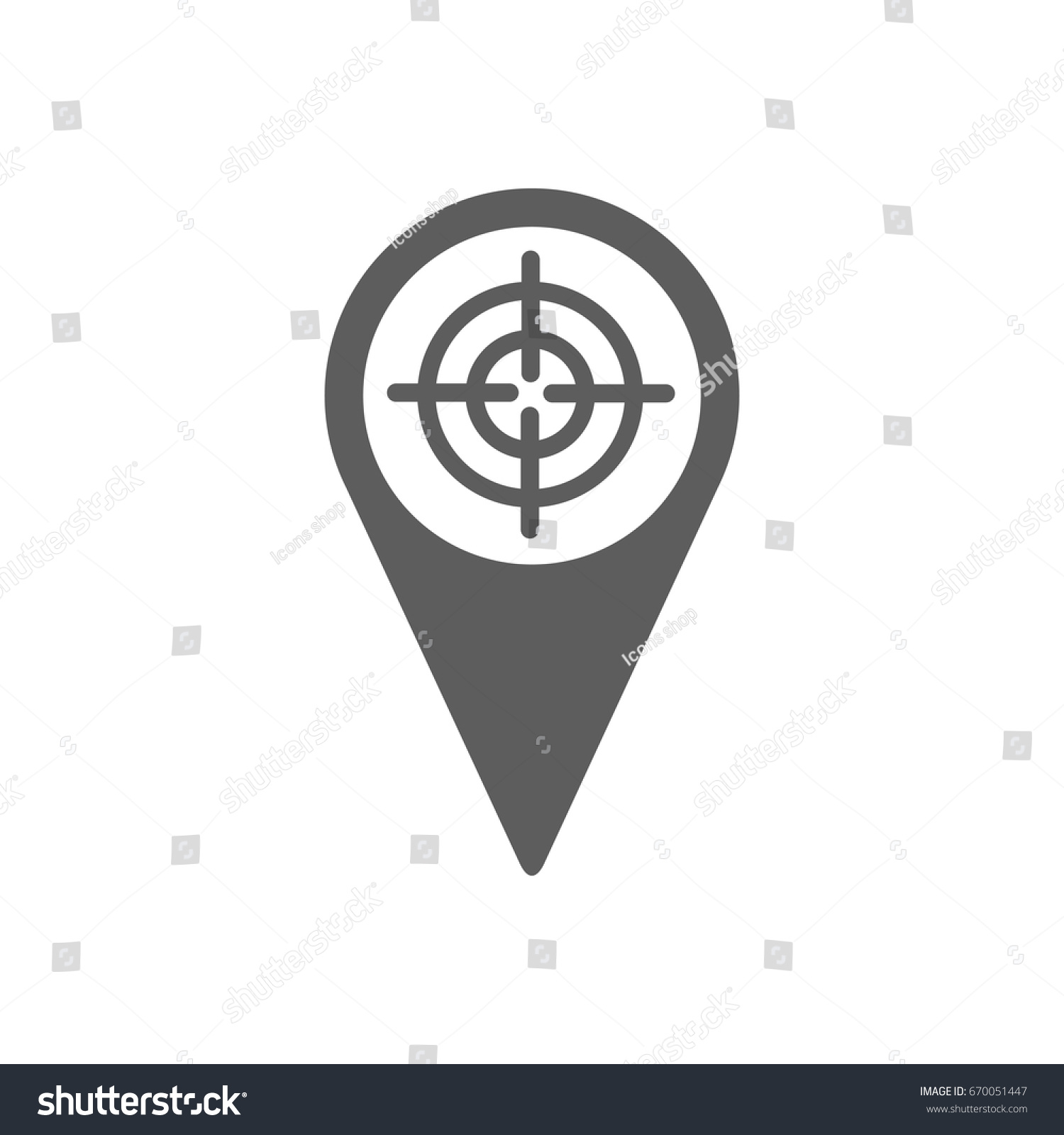 Pinpoint Shooting Range Icon Trendy Flat Stock Vector Hd Royalty