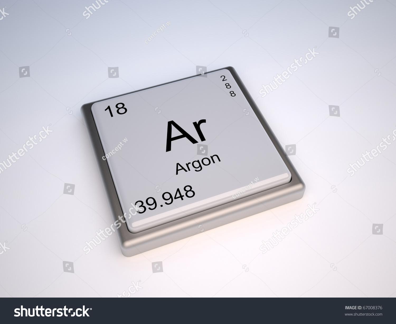 Argon chemical element periodic table symbol stock illustration argon chemical element of the periodic table with symbol ar gamestrikefo Choice Image