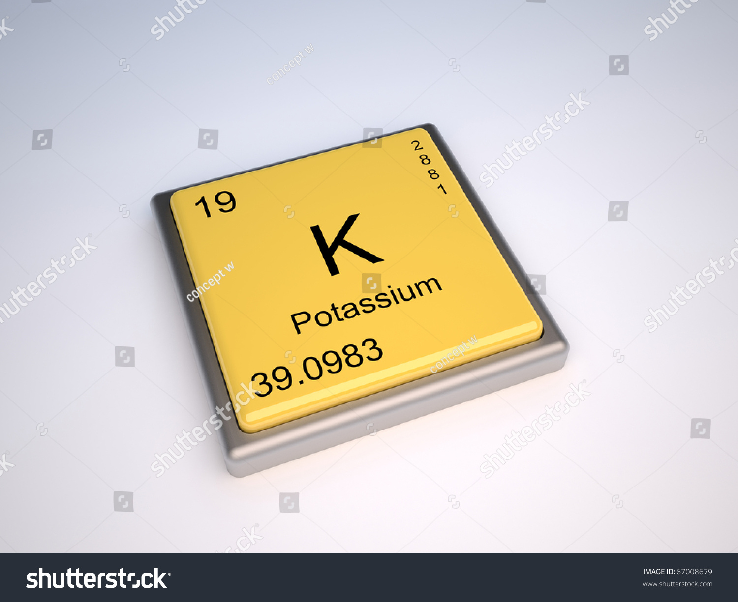 Potassium Chemical Element Periodic Table Symbol Stock Illustration