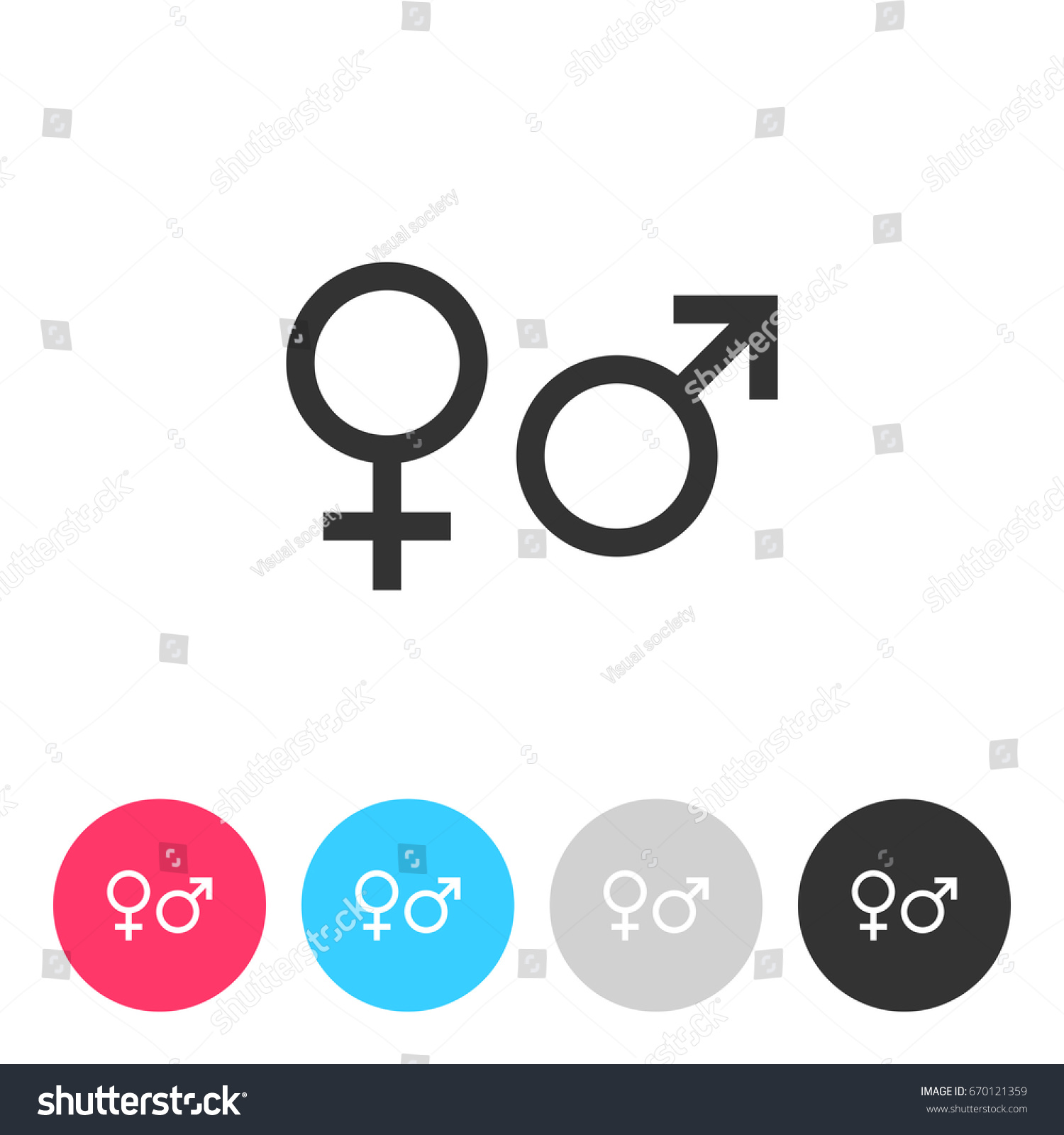 Male female sex symbol isolated on stock vector 670121359 male and female sex symbol isolated on white background button with symbol for your design biocorpaavc