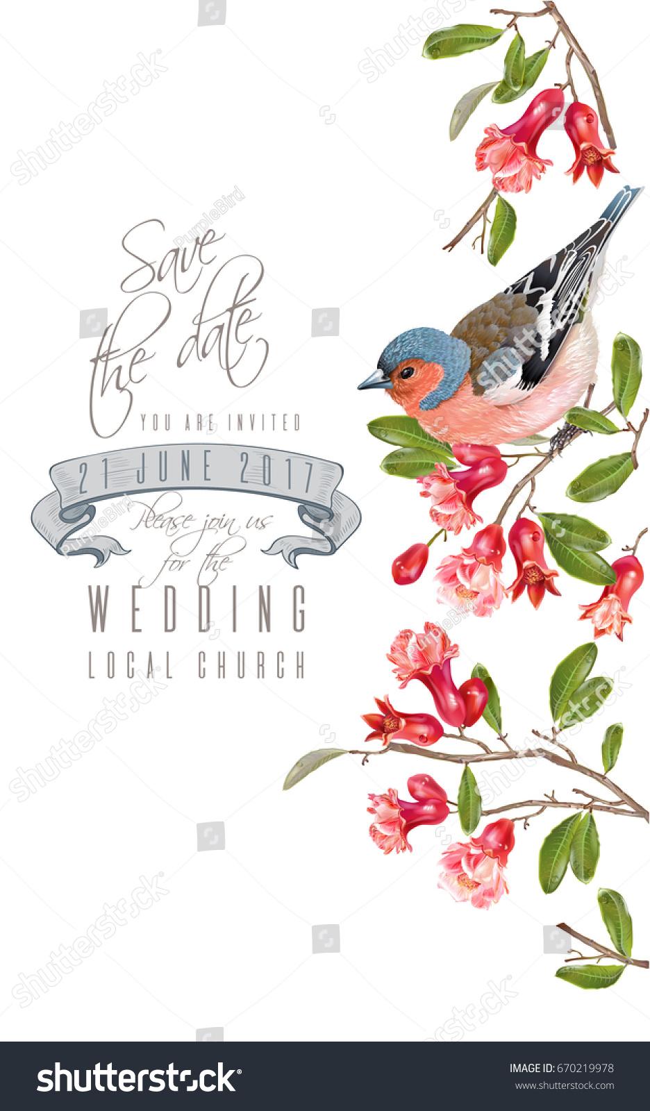 Vector Wedding Vertical Border Bird On Stock Vector (Royalty Free ...