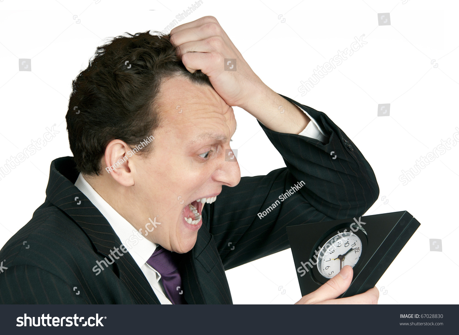 timemanagement concept business man looking clock stock photo edit