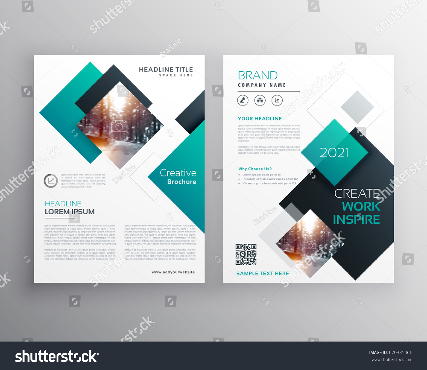 Modern blue brochure cover design annual stock vector for Booklet brochure template