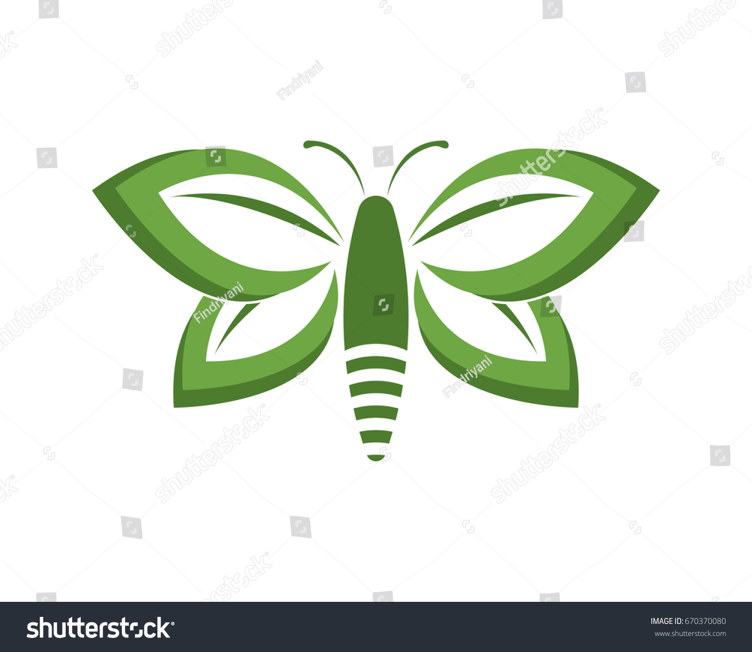 Green butterfly logo stock vector 670370080 shutterstock green butterfly logo biocorpaavc Image collections