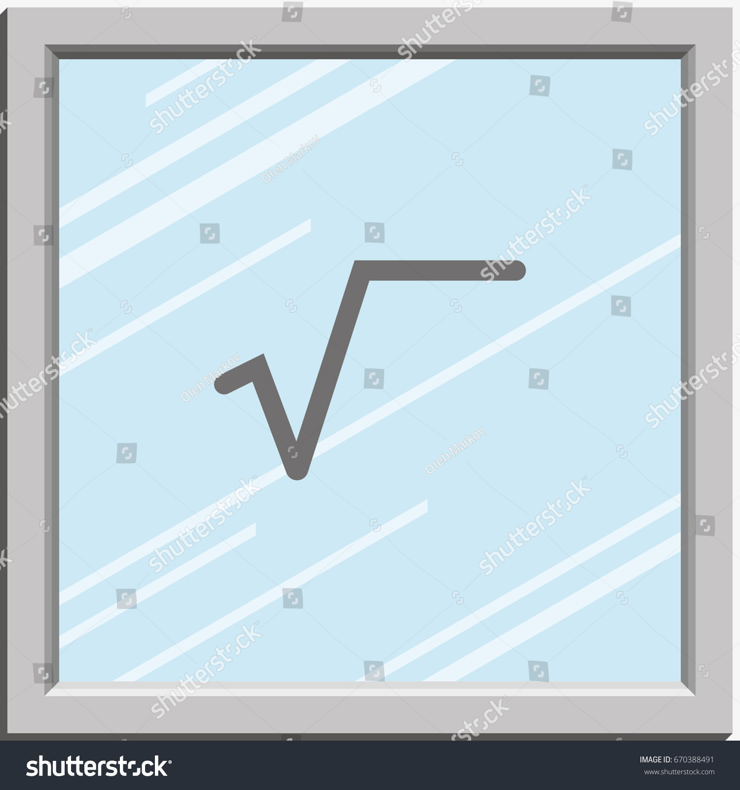 Square root symbol flat icon stock vector 670388491 shutterstock square root symbol flat icon buycottarizona Images