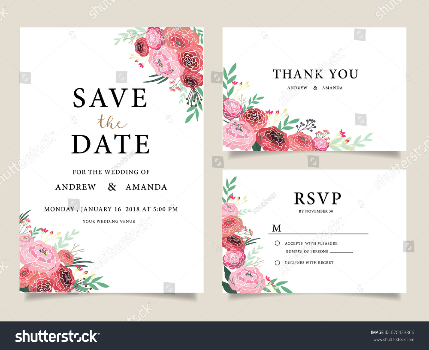 wedding invitation card template text stock vector royalty free