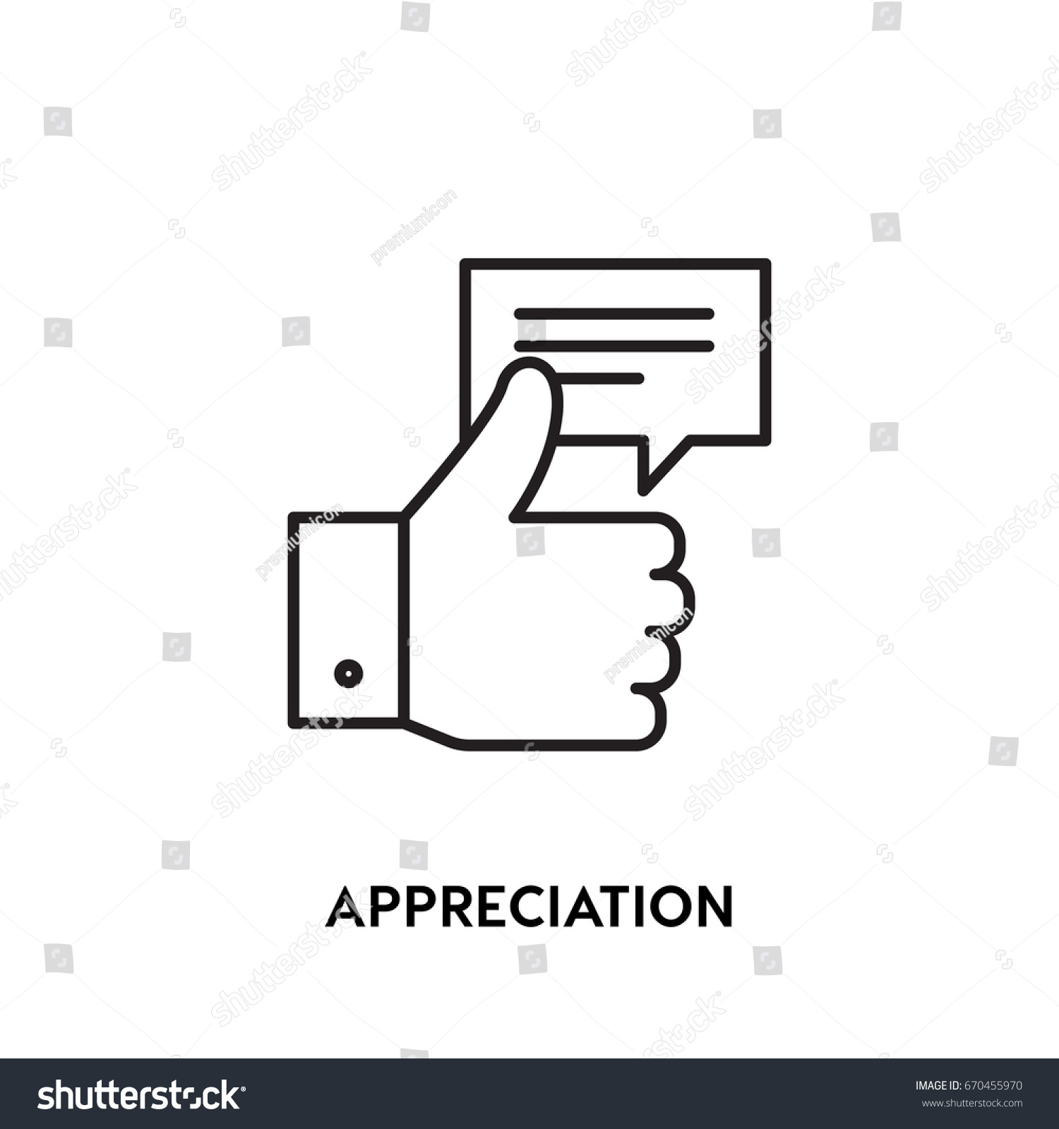 Appreciation vector icon like symbol modern stock vector 670455970 appreciation vector icon like symbol modern simple flat vector illustration for web site buycottarizona Choice Image