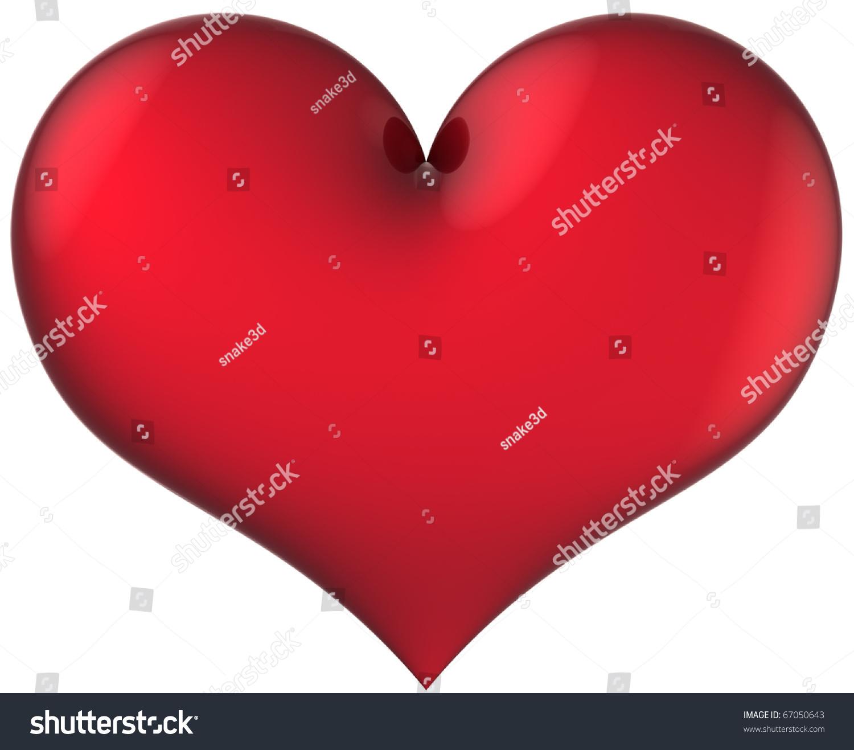 Heart Shape Total Red Shiny Love Stockillustration 67050643