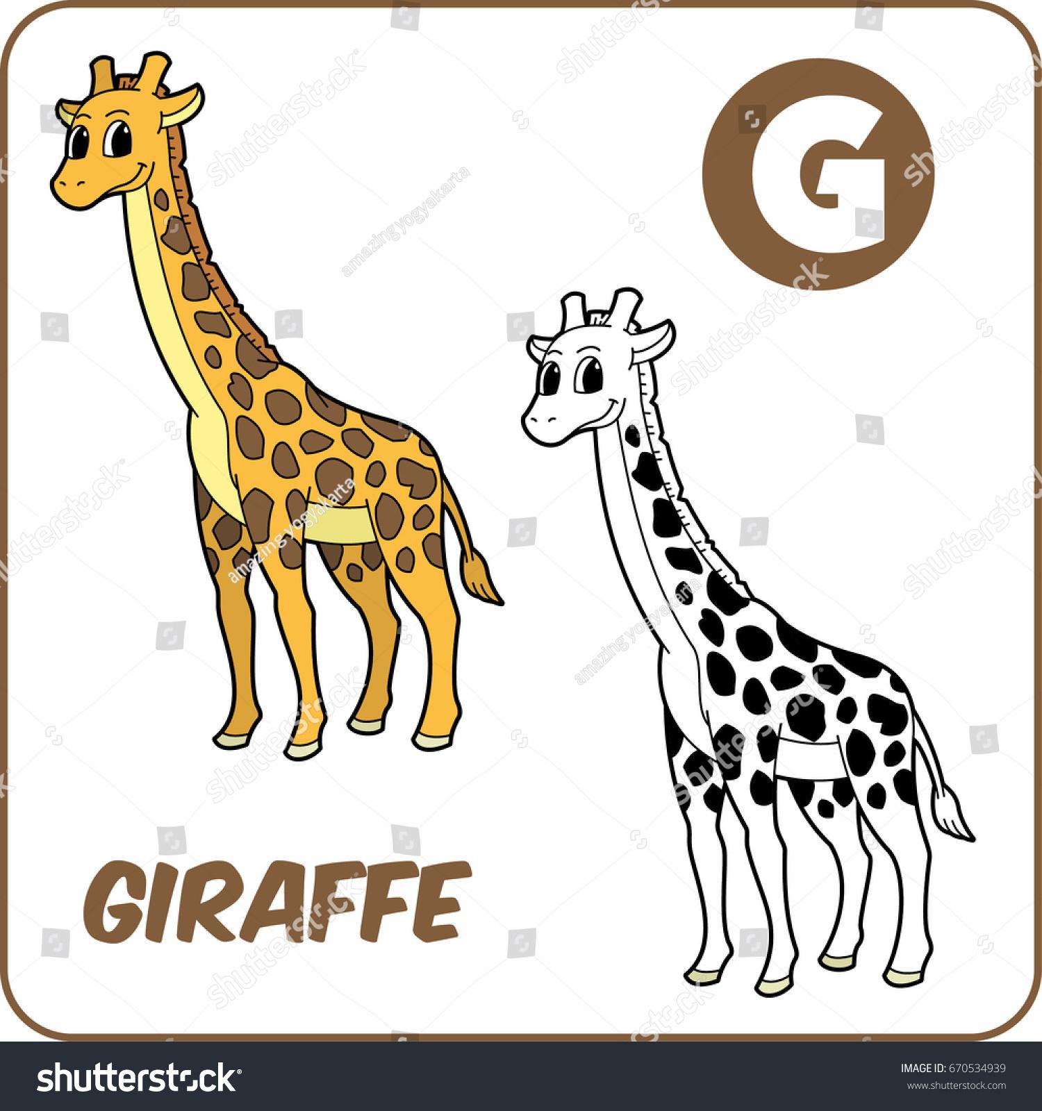 coloring animal coloring giraffe