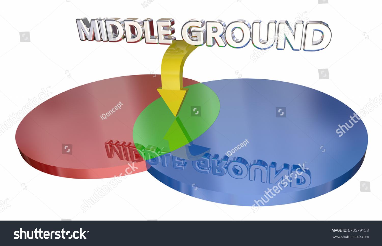 Middle ground compromise negotiation venn diagram stock middle ground compromise negotiation venn diagram 3d illustration ccuart Images