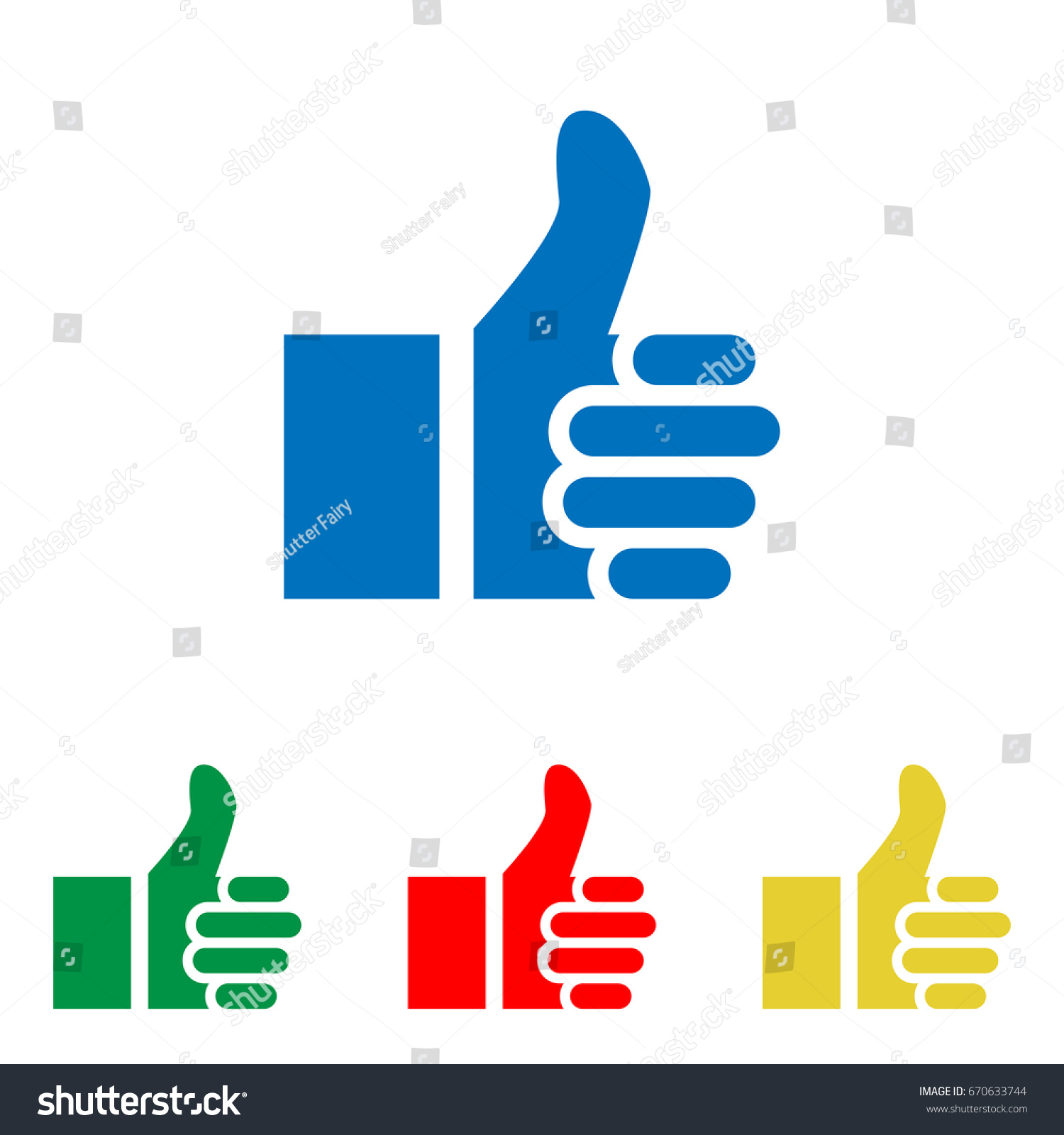 Thumb Symbol Like Gesture Icon Vector Stock Vector Royalty Free