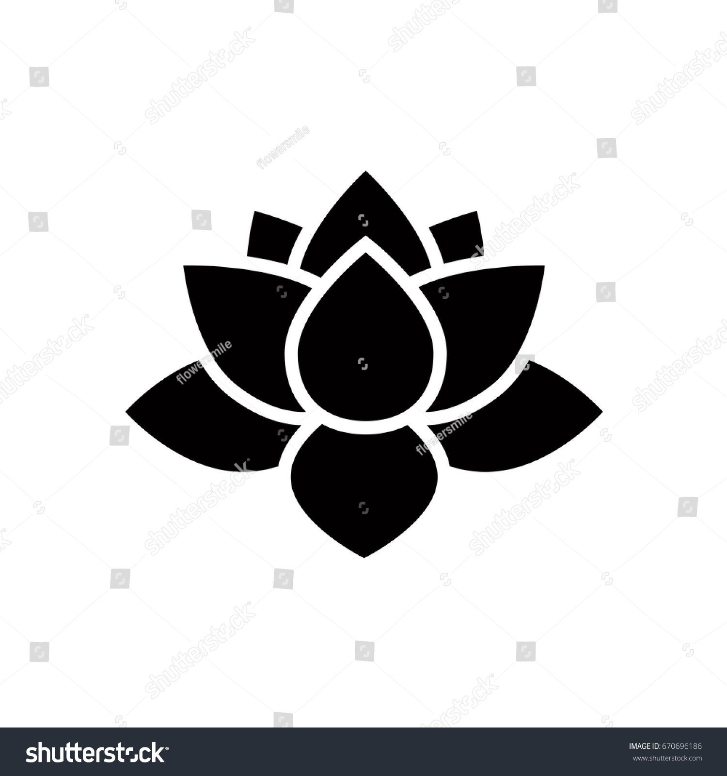 Lotus flower icon simple water lily stock vector royalty free lotus flower icon simple water lily flower vector illustration symbol izmirmasajfo