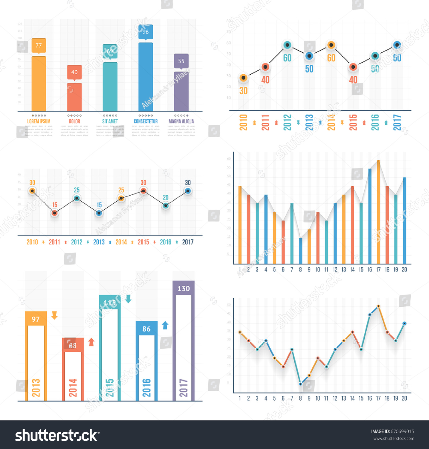 line graphs templates